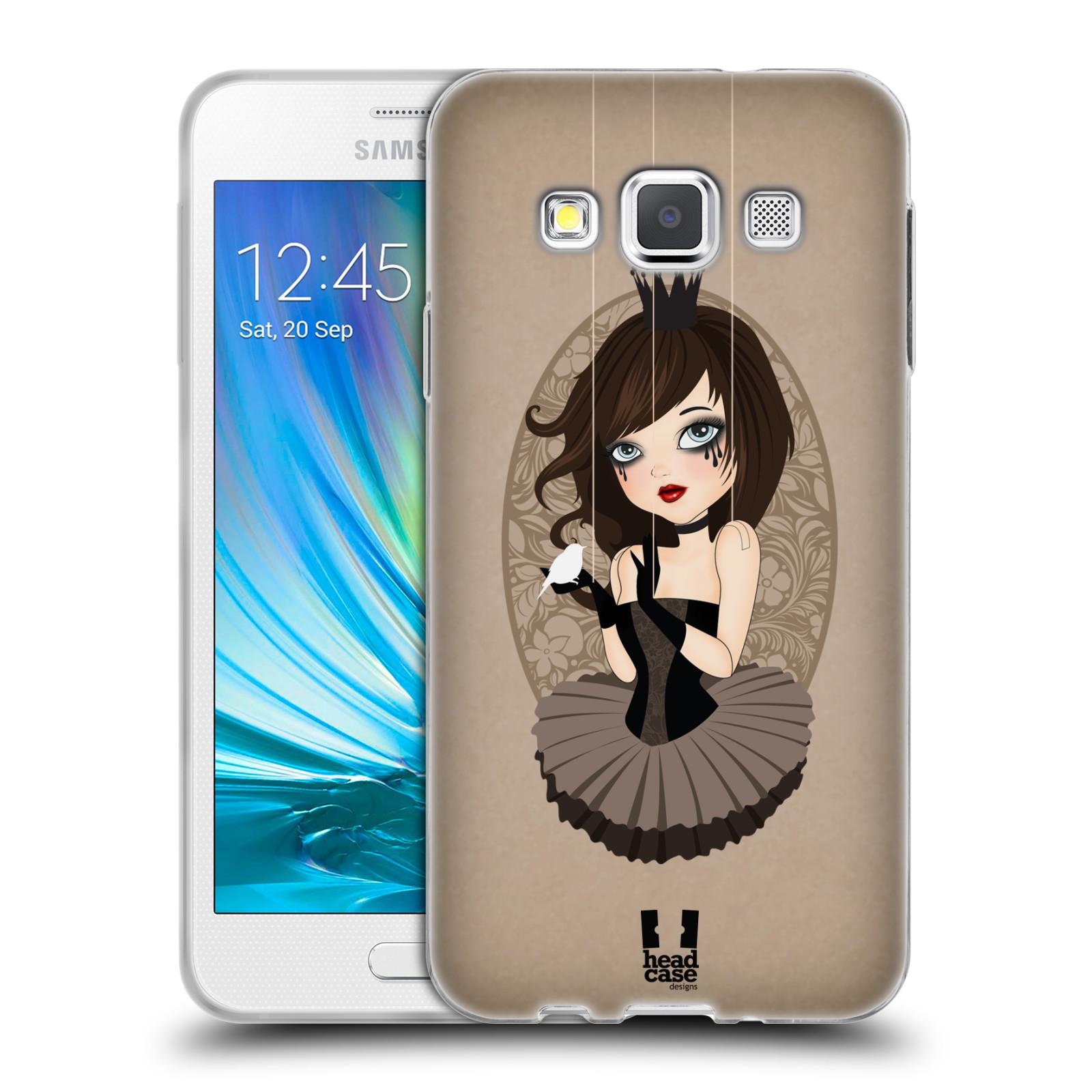6ceabdf0f HEAD CASE silikonový obal na mobil Samsung Galaxy A3 vzor Marioneta panenka  SERAFÍNA HNĚDÁ empty