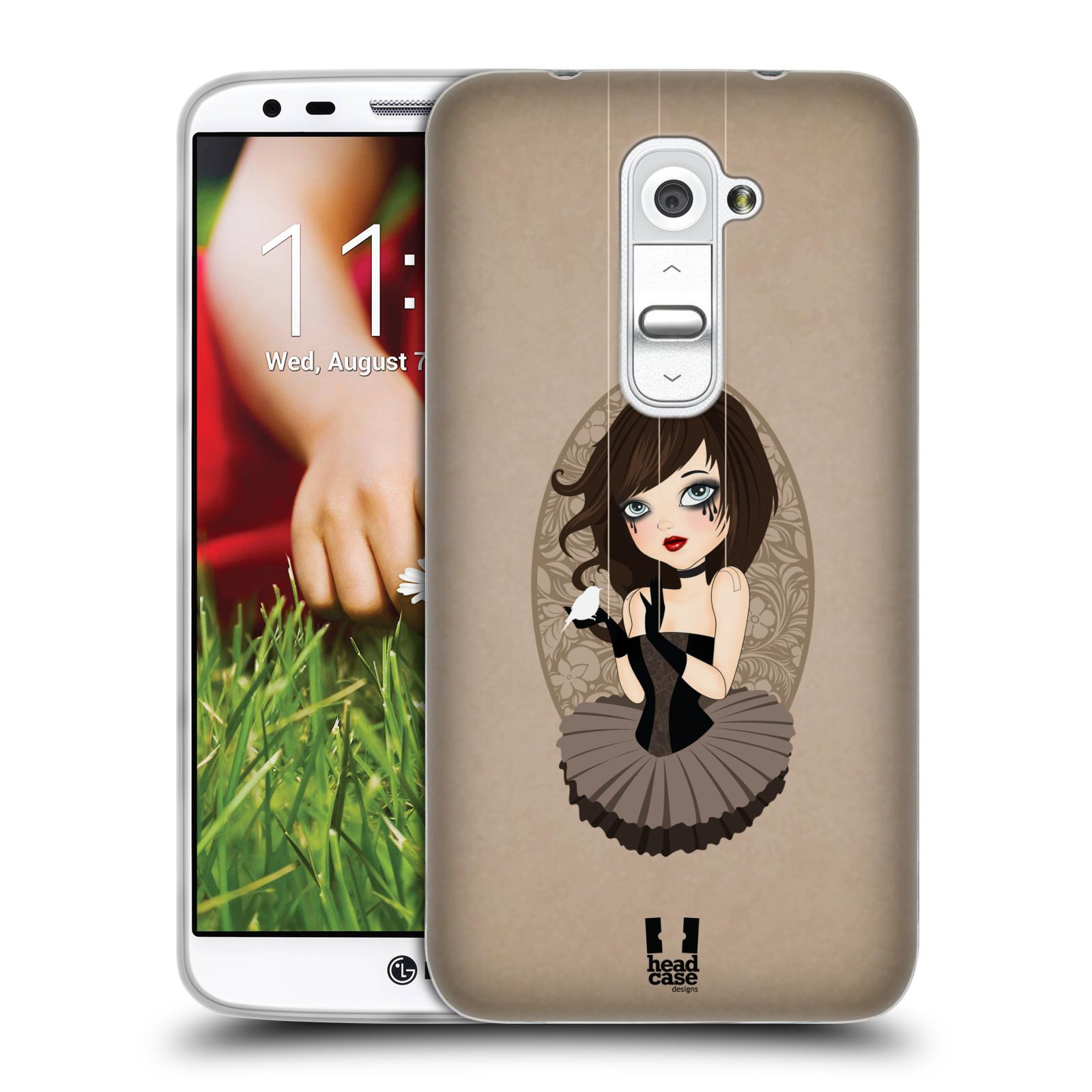 HEAD CASE silikonový obal na mobil LG G2 vzor Marioneta panenka SERAFÍNA HNĚDÁ