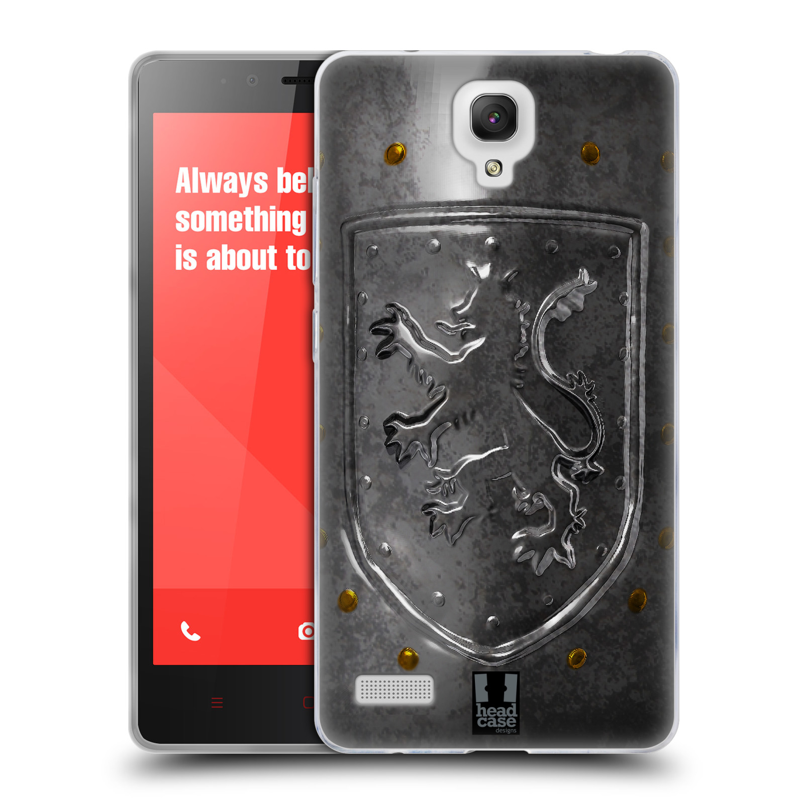 HEAD CASE MEDIEVAL ARMOURY SILICONE GEL CASE FOR XIAOMI REDMI NOTE 4G