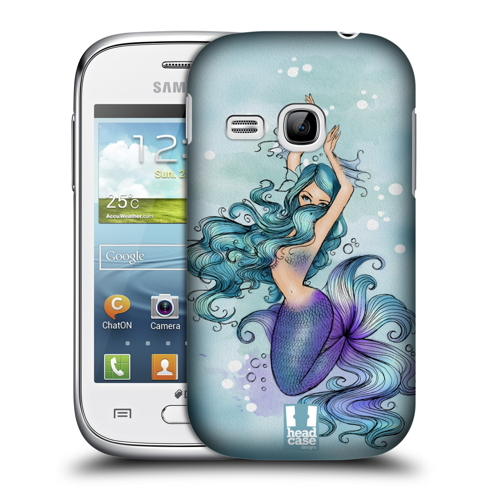 HEAD CASE DESIGNS MERMAIDS HARD BACK CASE FOR SAMSUNG GALAXY YOUNG S6310