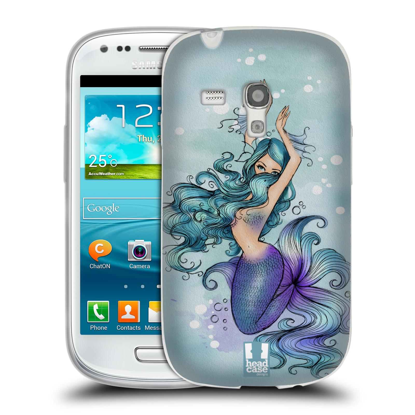 HEAD CASE silikonový obal na mobil Samsung Galaxy S3 MINI i8190 vzor Mořská víla MODRÁ