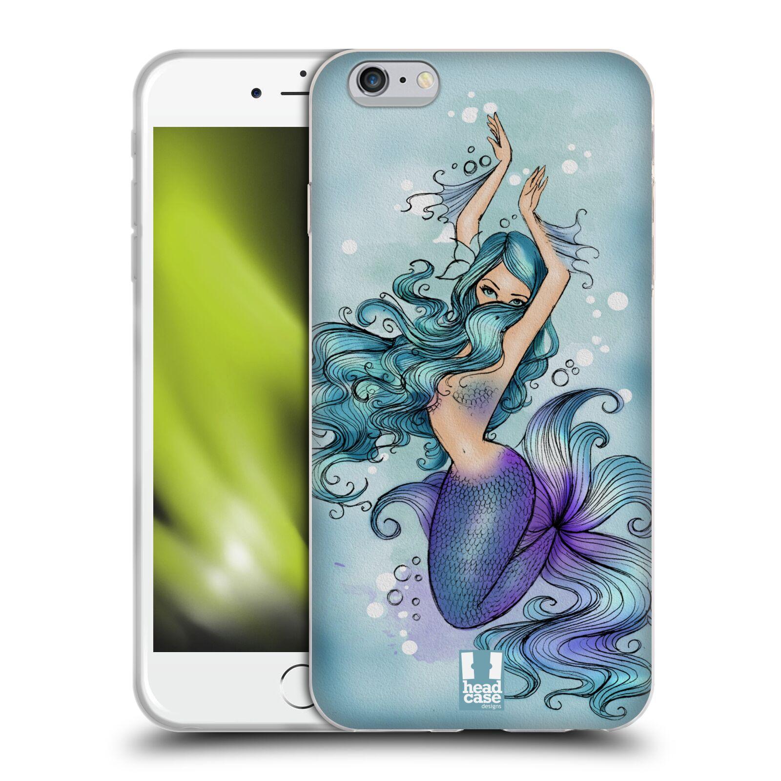 HEAD CASE silikonový obal na mobil Apple Iphone 6 PLUS/ 6S PLUS vzor Mořská víla MODRÁ