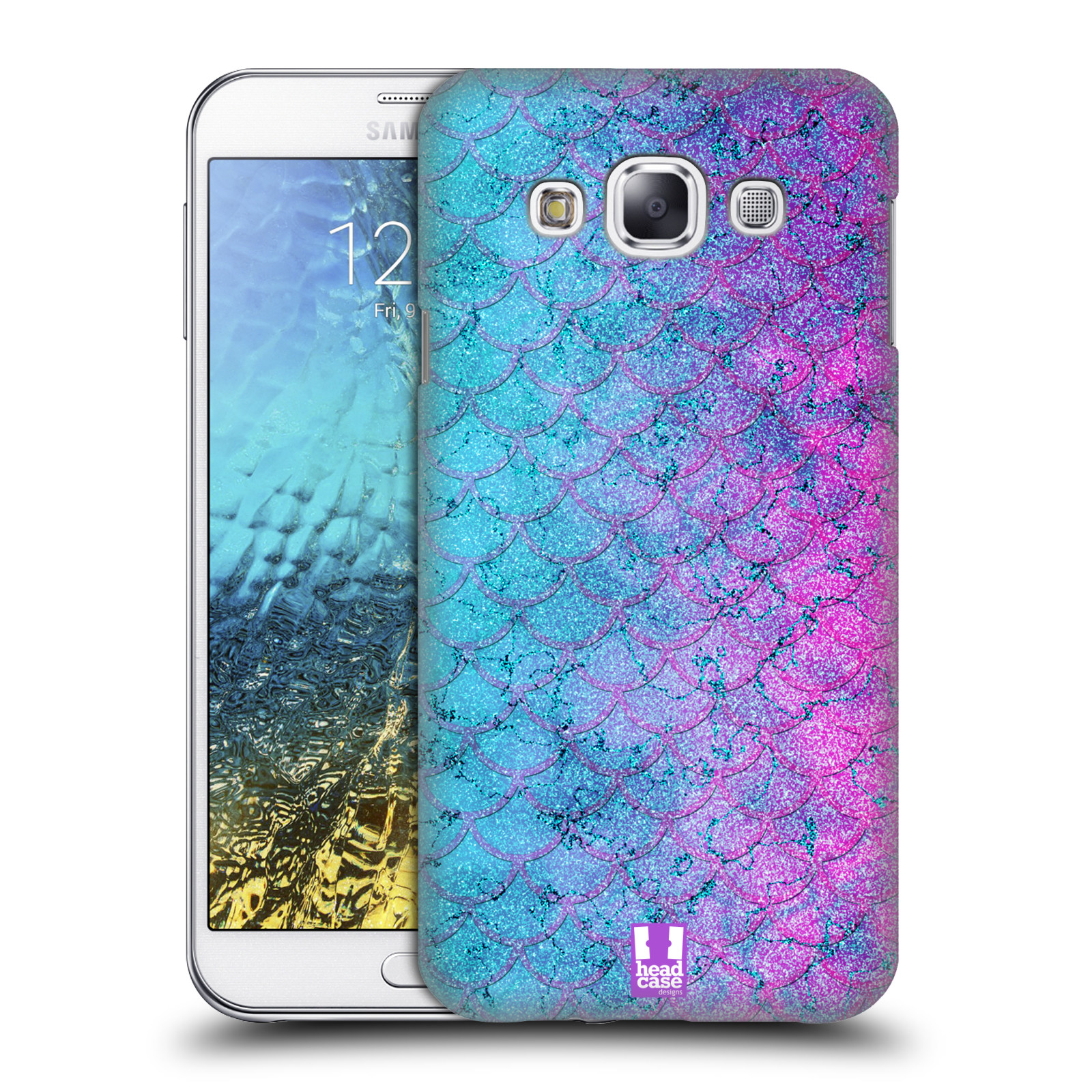 Head case designs mermaid scales hard back case for for Cell phone cover design ideas