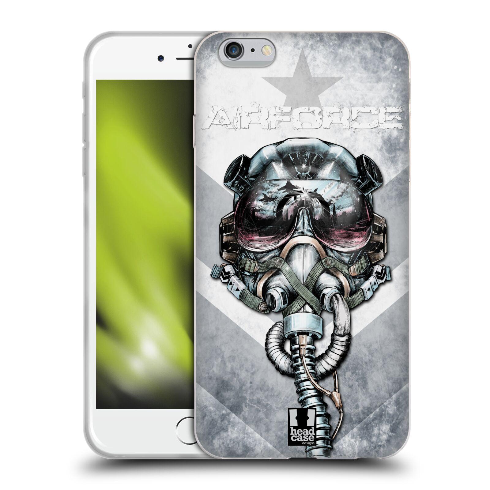 HEAD CASE silikonový obal na mobil Apple Iphone 6 PLUS/ 6S PLUS vzor Kovový vzhled zrozen k létání