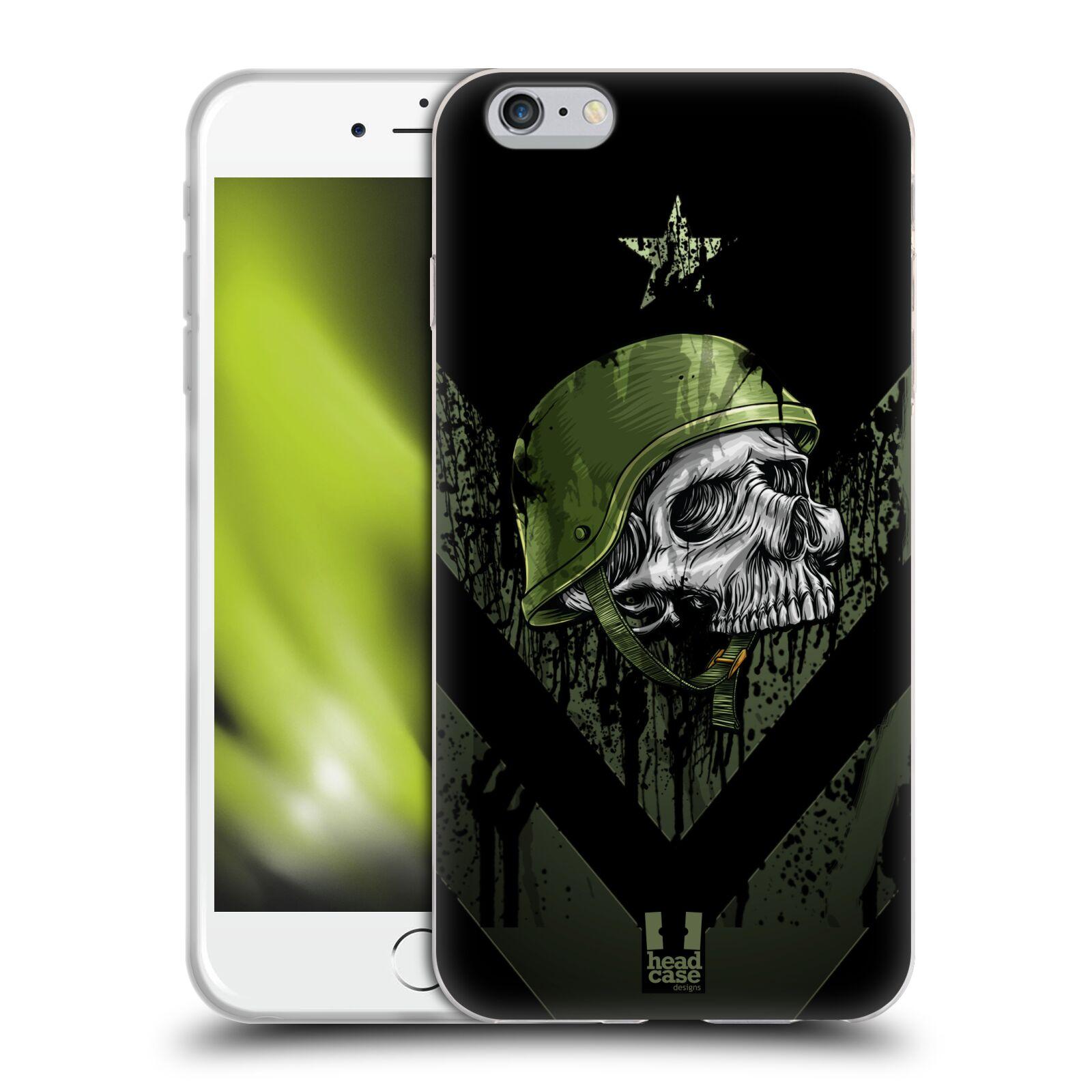 HEAD CASE silikonový obal na mobil Apple Iphone 6 PLUS/ 6S PLUS vzor Kovový vzhled armáda jednoho muže