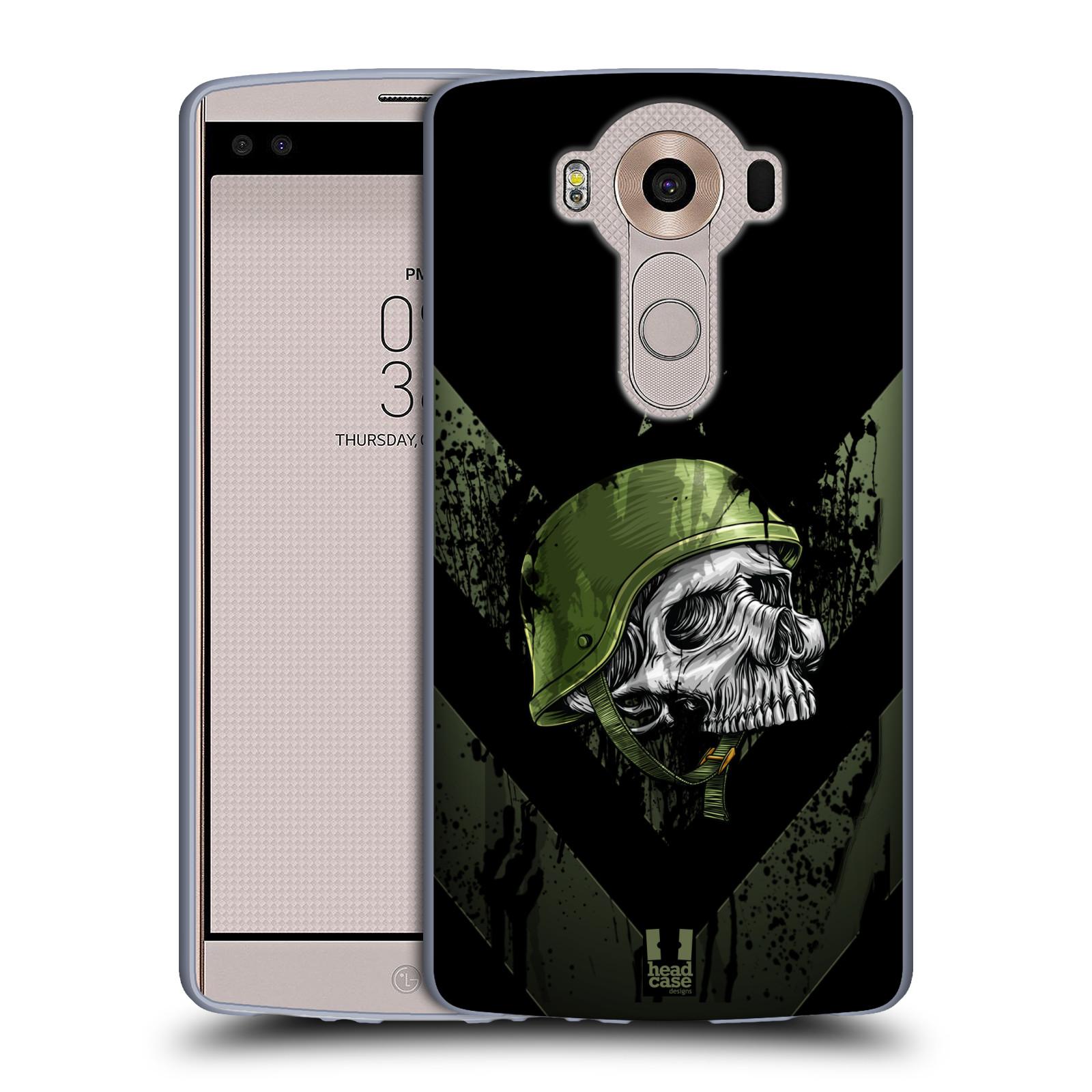 HEAD CASE silikonový obal na mobil LG V10 (H960A) vzor Kovový vzhled armáda jednoho muže