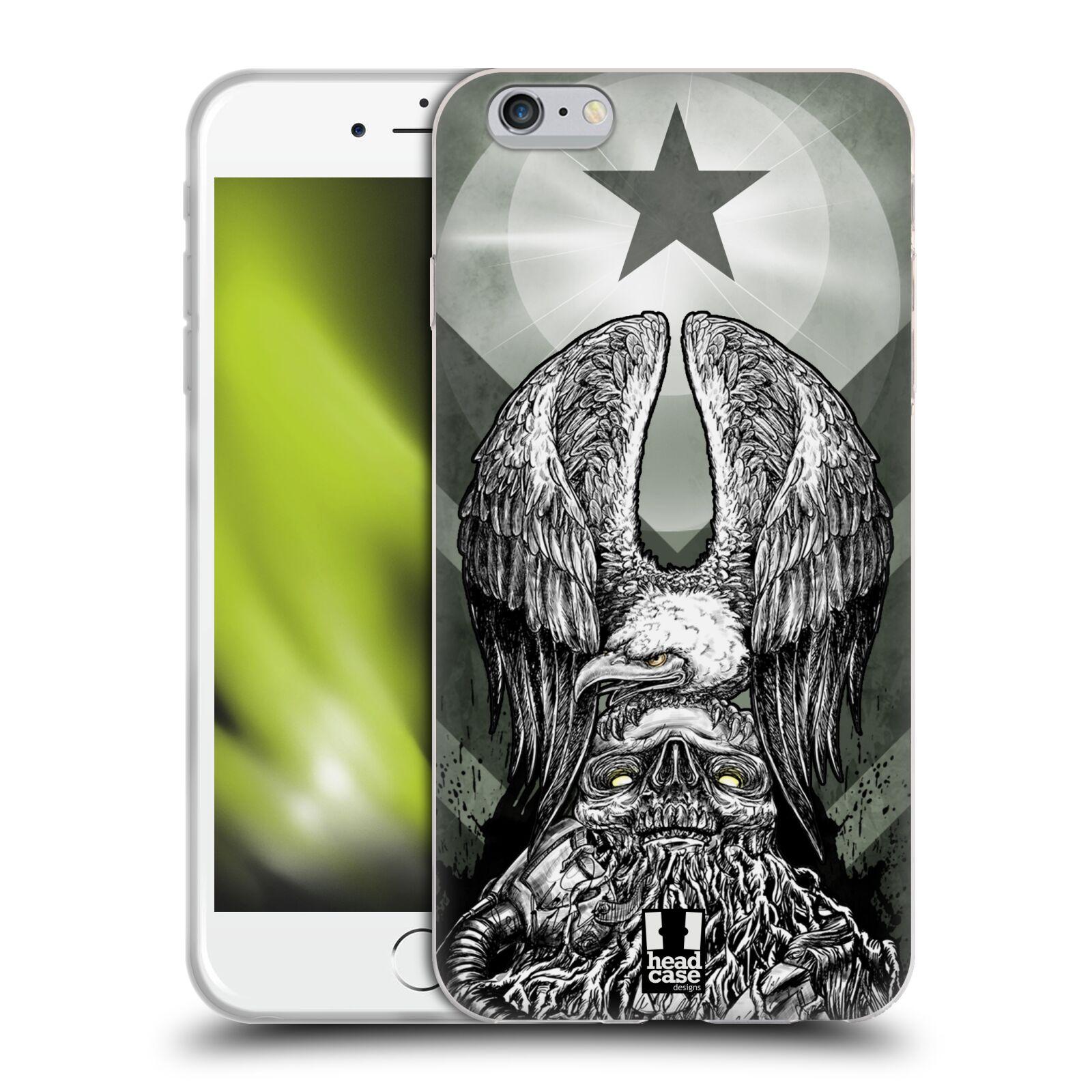 HEAD CASE silikonový obal na mobil Apple Iphone 6 PLUS/ 6S PLUS vzor Kovový vzhled orel