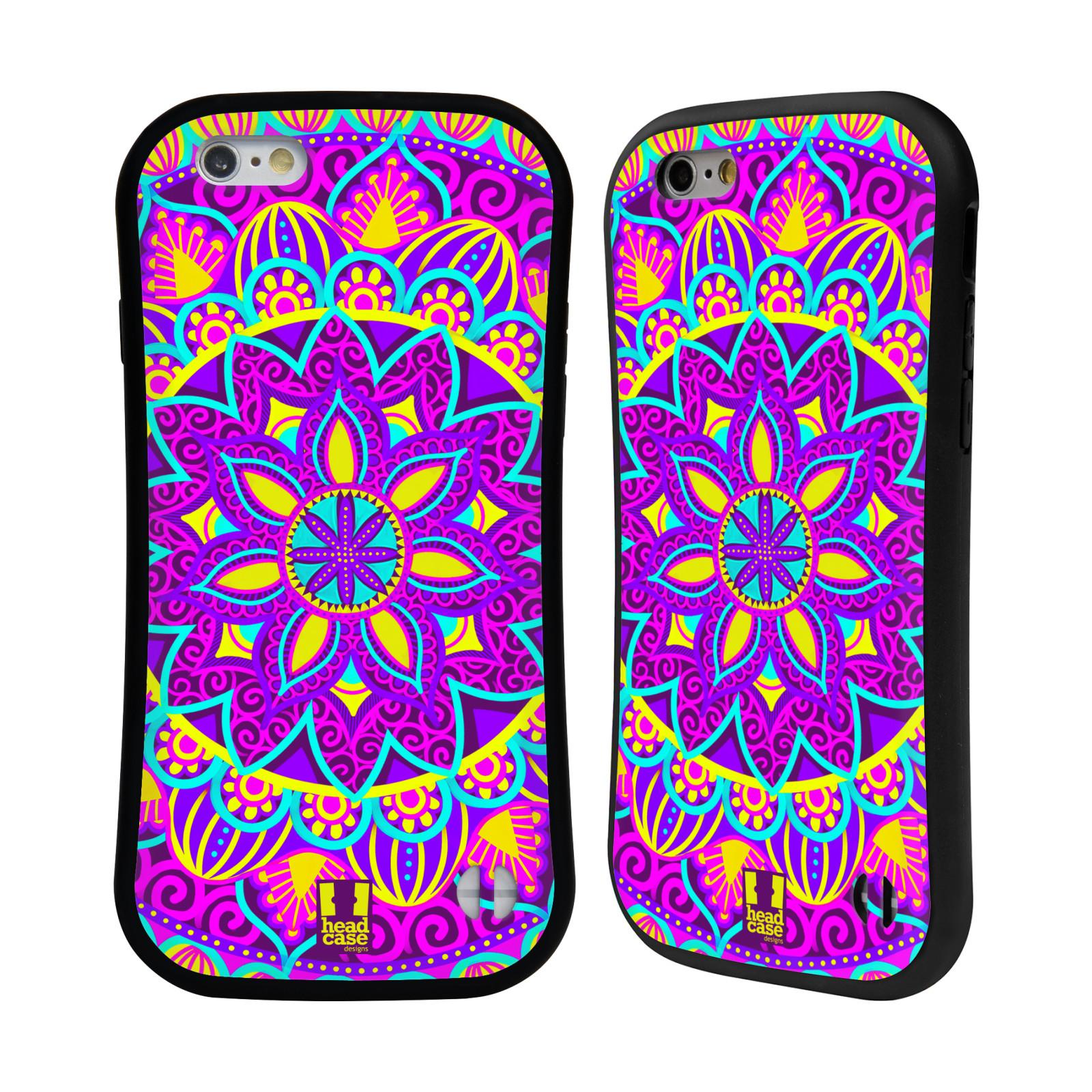 HEAD CASE silikon plast odolný obal na mobil Apple Iphone 6 6S vzor Indie  Mandala květinový motiv FIALOVÁ KVĚTINA 93abe13fcd2