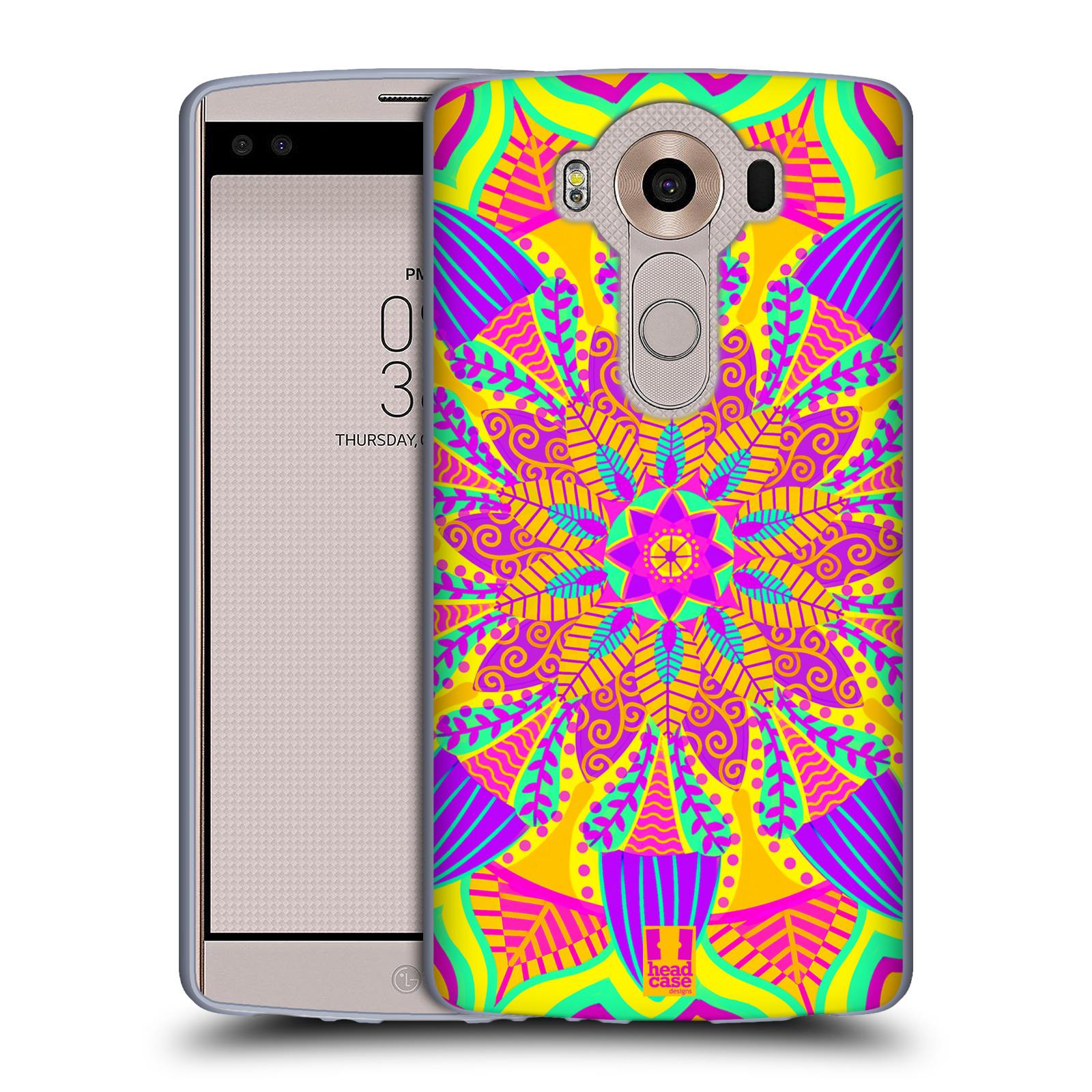 HEAD CASE silikonový obal na mobil LG V10 (H960A) vzor Indie Mandala květinový motiv VÝCHOD SLUNCE LIMETKOVÁ