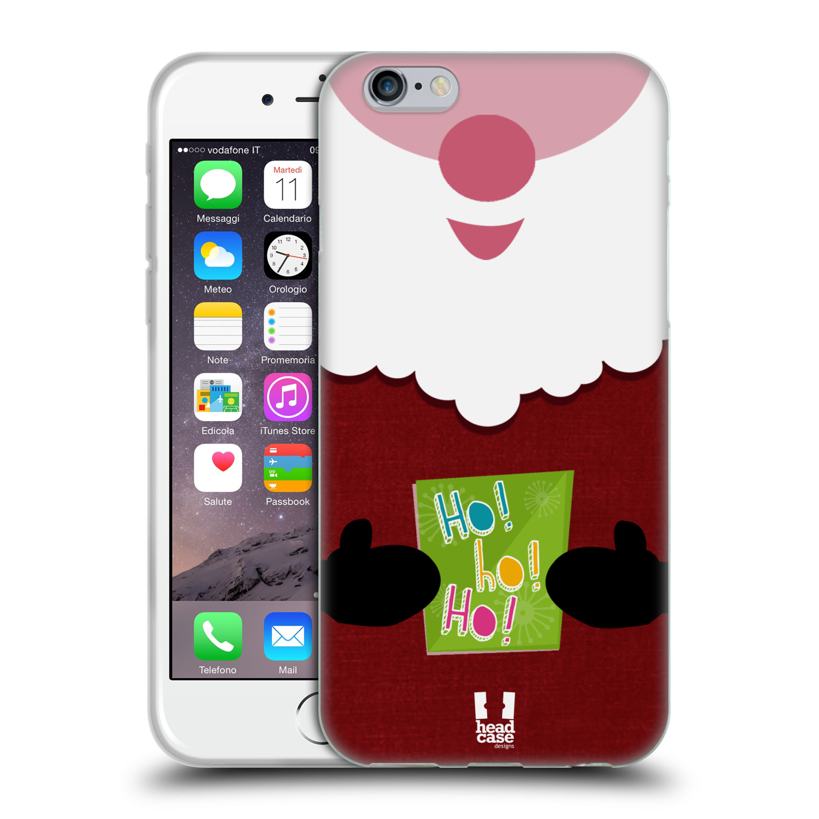 head case mix christmas soft gel case for apple iphone 6s. Black Bedroom Furniture Sets. Home Design Ideas