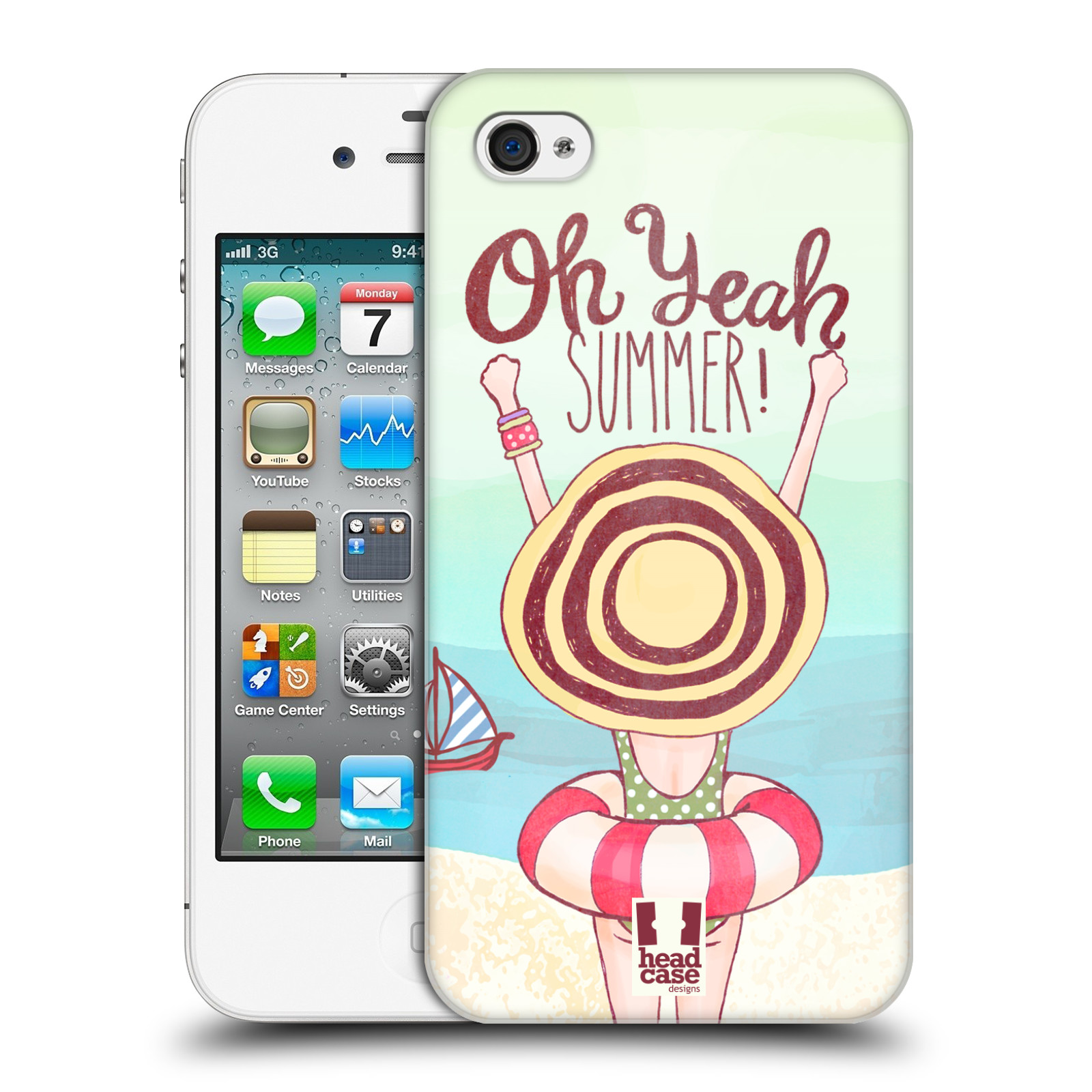 HEAD CASE DESIGNS KIND OF SUMMER CASE COVER FOR APPLE iPHONE 4 4S