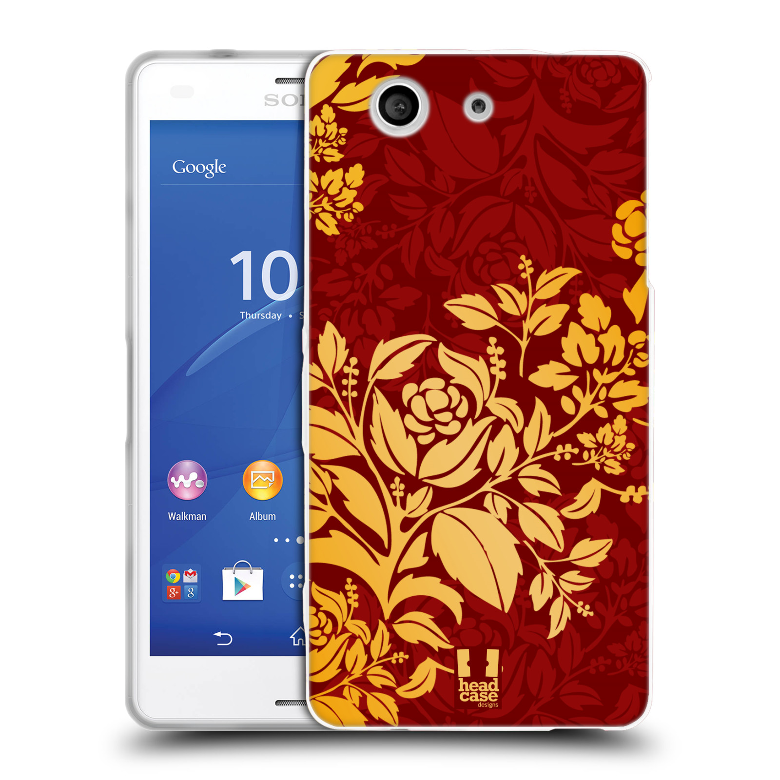 HEAD CASE MODERN BAROQUE SILICONE GEL CASE FOR SONY XPERIA Z3 COMPACT D5803