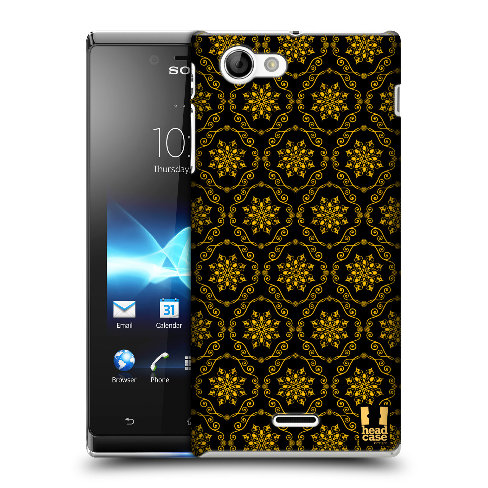 HEAD CASE DESIGNS MODERN BAROQUE CASE COVER FOR SONY XPERIA J ST26i