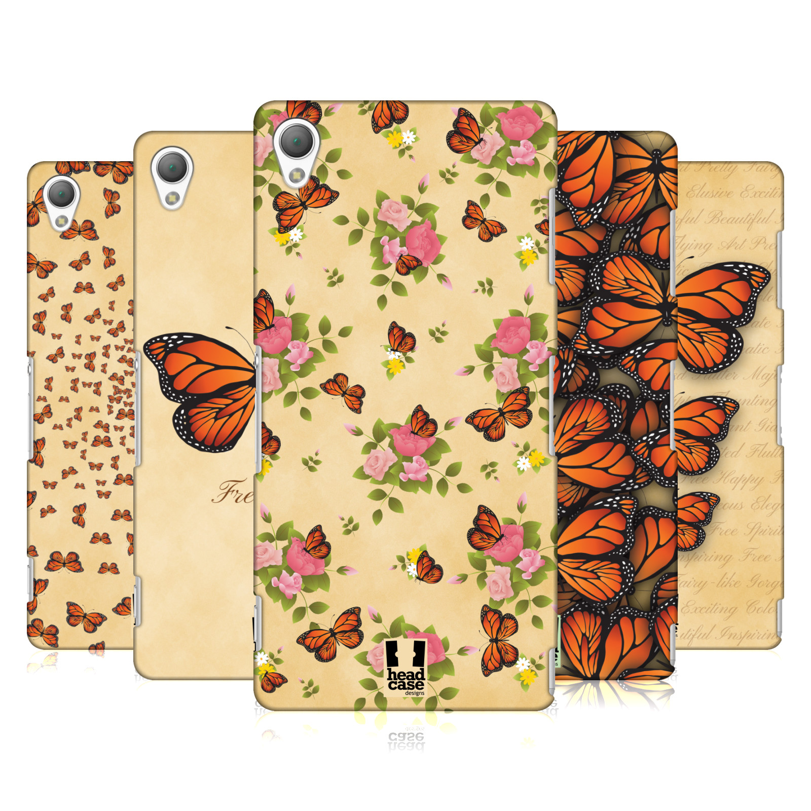 HEAD-CASE-DESIGNS-MONARCH-SCHMETTERLING-MUSTER-RUCKSEITE-HULLE-FUR-SONY-HANDYS-1