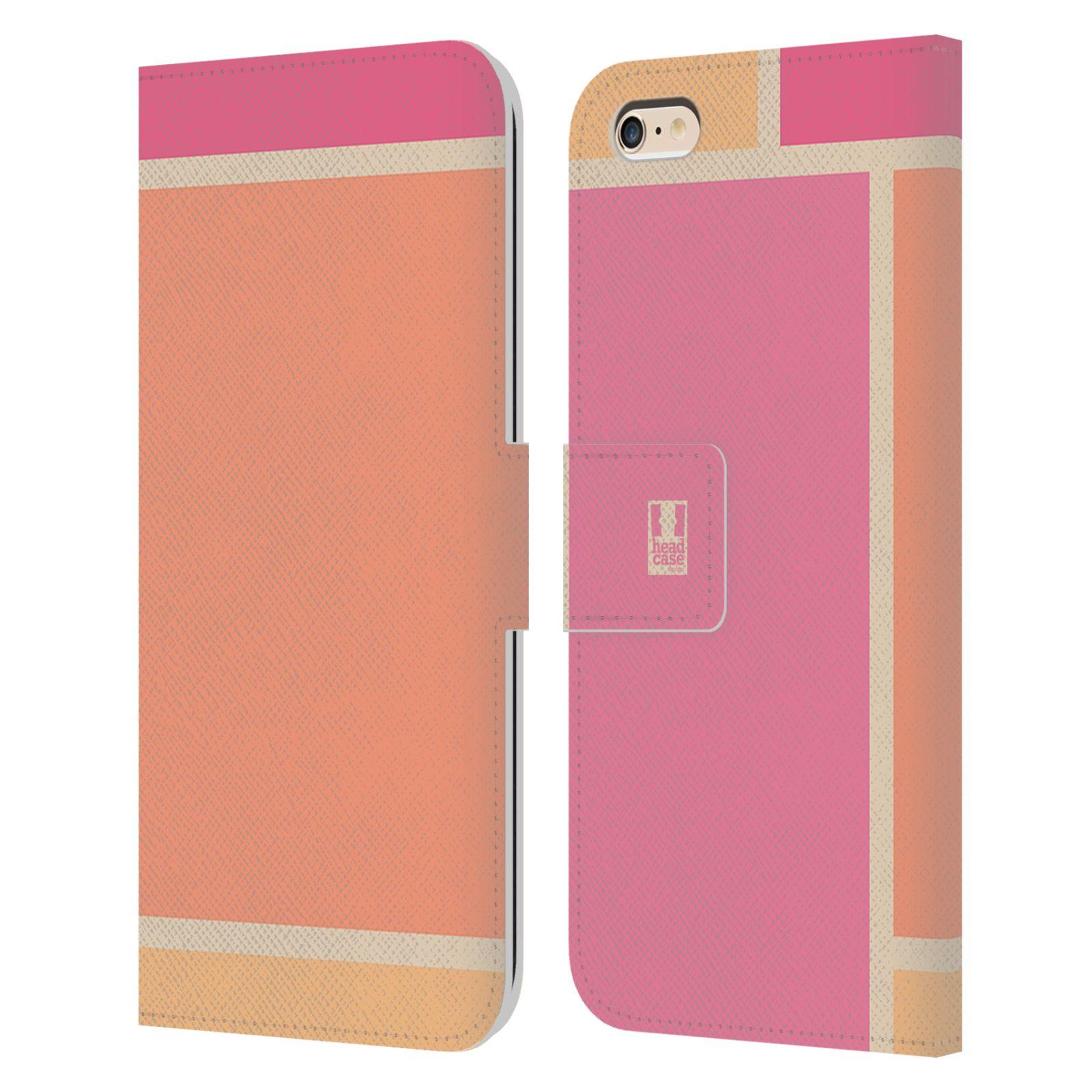 HEAD CASE Flipové pouzdro pro mobil Apple Iphone 6 PLUS   6S PLUS MODERN  barevná kostka růžová CANDY 4931df9bda9