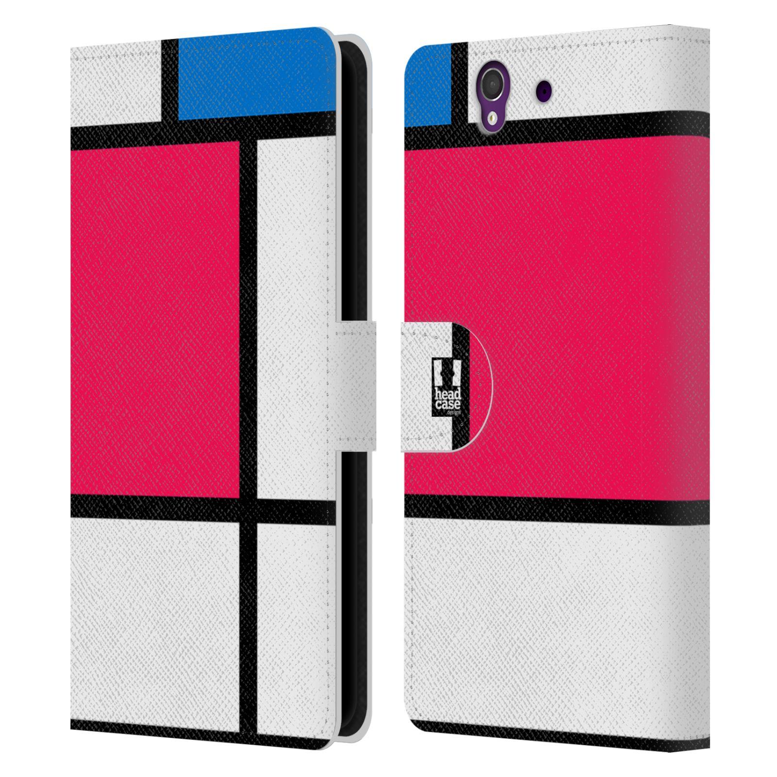 HEAD CASE Flipové pouzdro pro mobil SONY XPERIA Z (C6603) MODERN barevná kostka růžová NEON