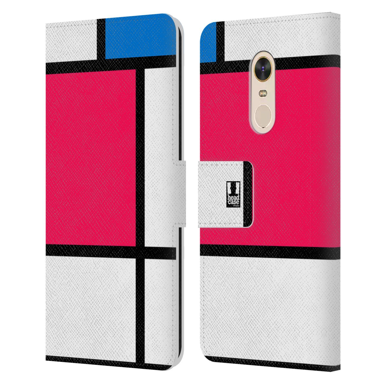 HEAD CASE Flipové pouzdro pro mobil Xiaomi Redmi Note 5 MODERN barevná kostka růžová NEON