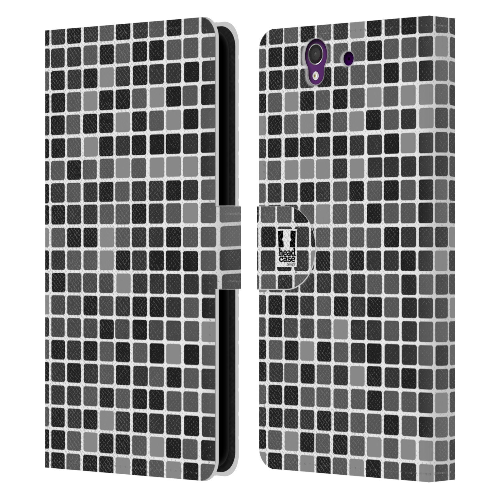 HEAD CASE Flipové pouzdro pro mobil SONY XPERIA Z (C6603) DISKO kostičky šedá