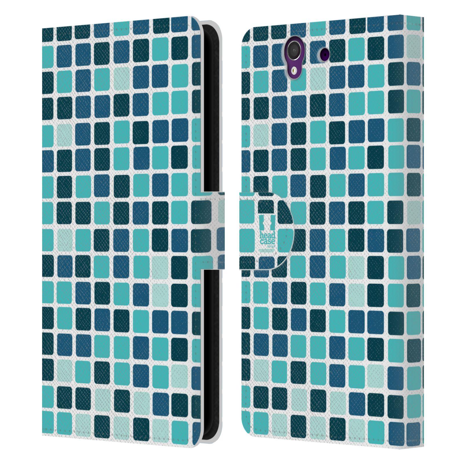 HEAD CASE Flipové pouzdro pro mobil SONY XPERIA Z (C6603) DISKO kostičky modrá