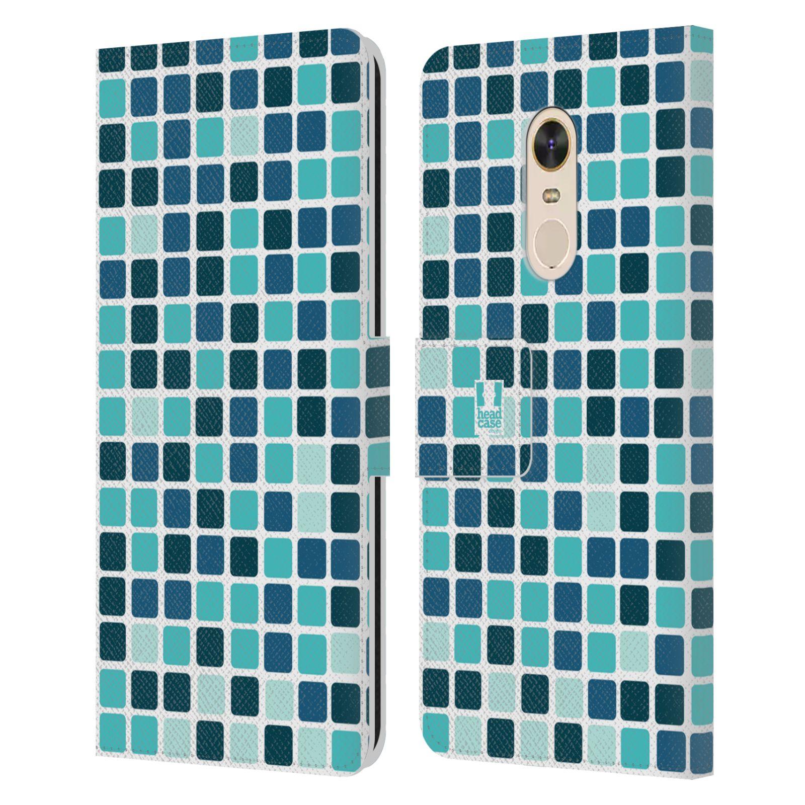HEAD CASE Flipové pouzdro pro mobil Xiaomi Redmi Note 5 DISKO kostičky modrá
