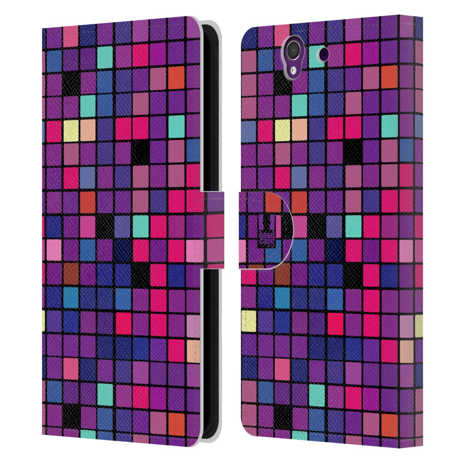 HEAD CASE Flipové pouzdro pro mobil SONY XPERIA Z (C6603) DISKO kostičky fialová DISKO