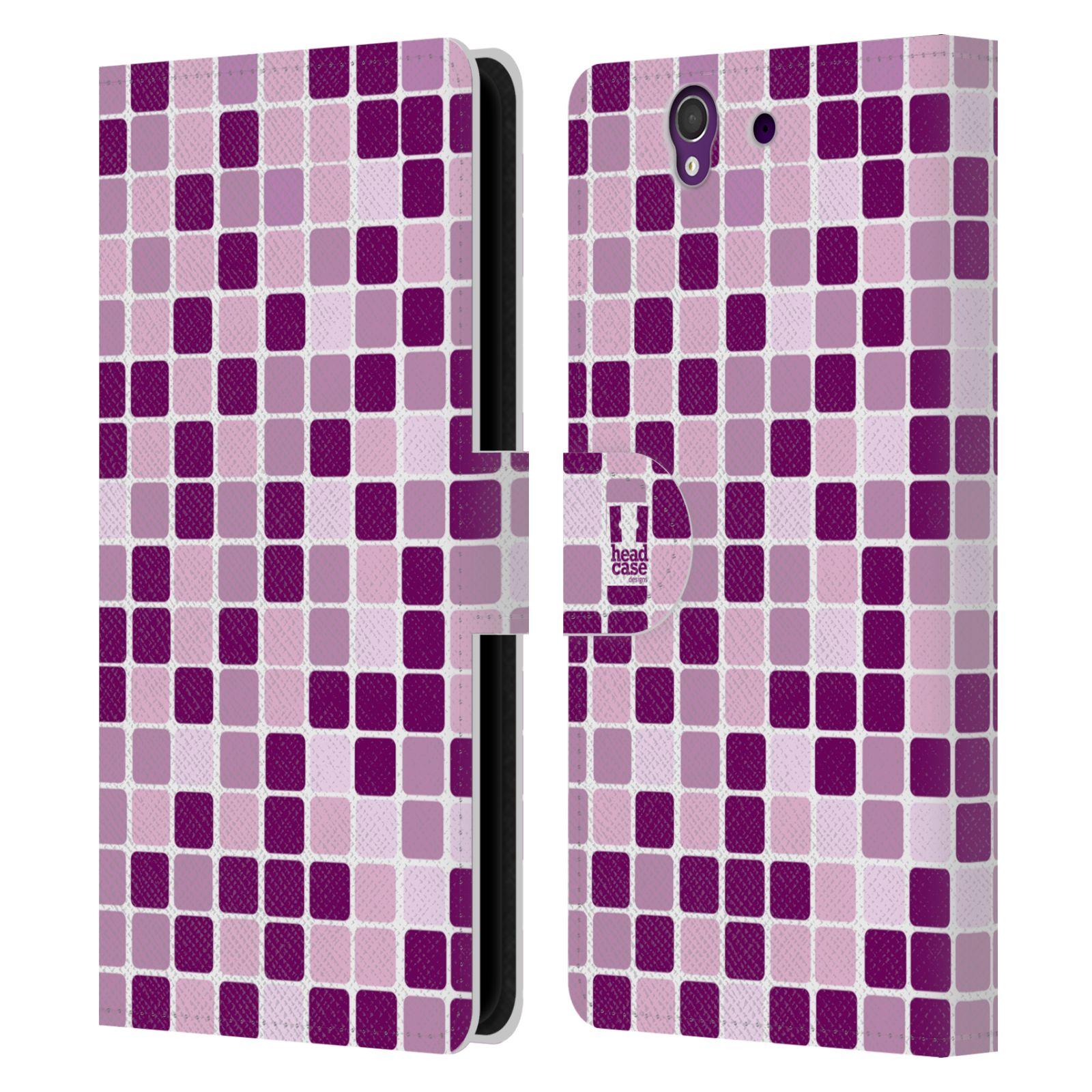 HEAD CASE Flipové pouzdro pro mobil SONY XPERIA Z (C6603) DISKO kostičky fialová