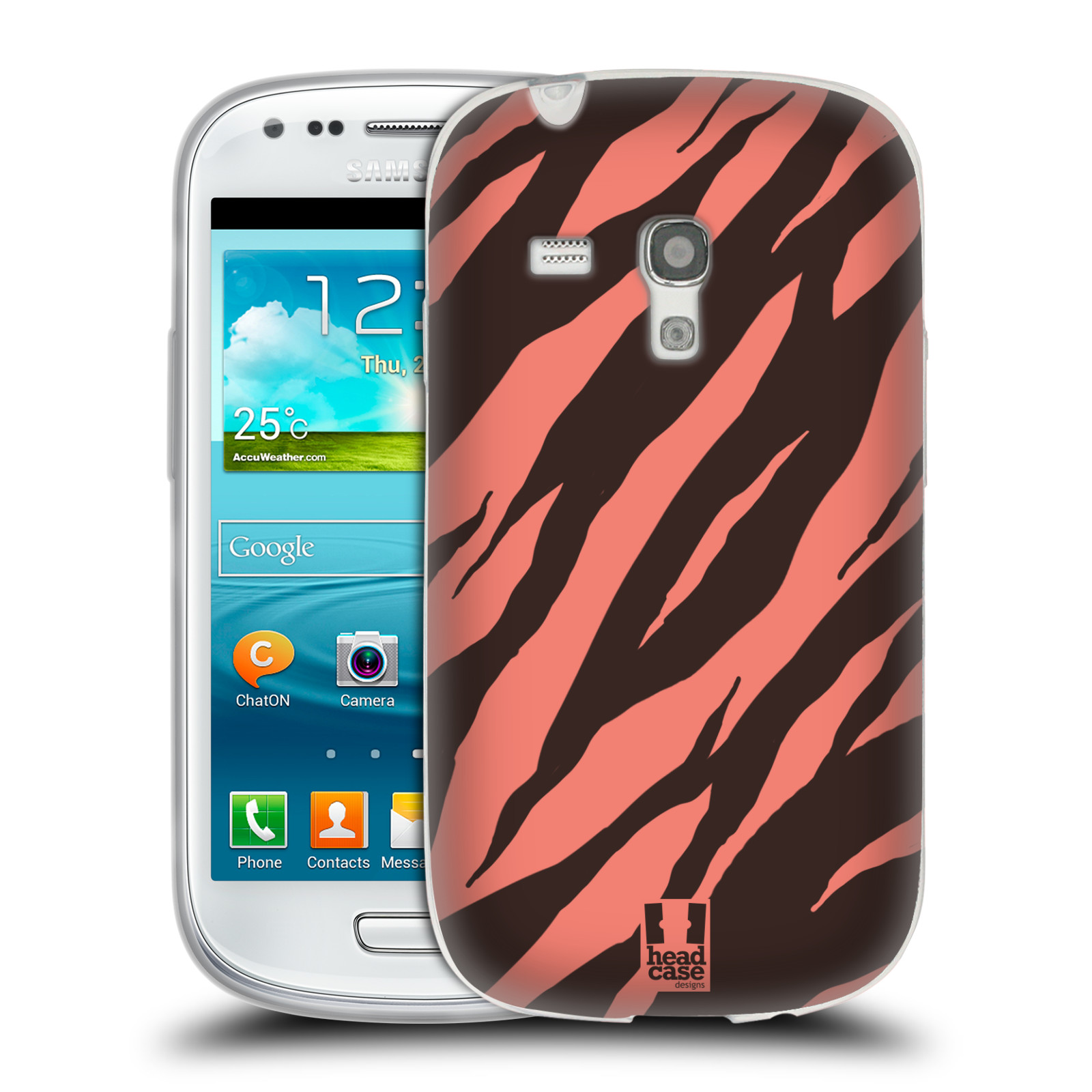 HEAD CASE silikonový obal na mobil Samsung Galaxy S3 MINI i8190 vzor Divočina zvíře 2 korálový tygr