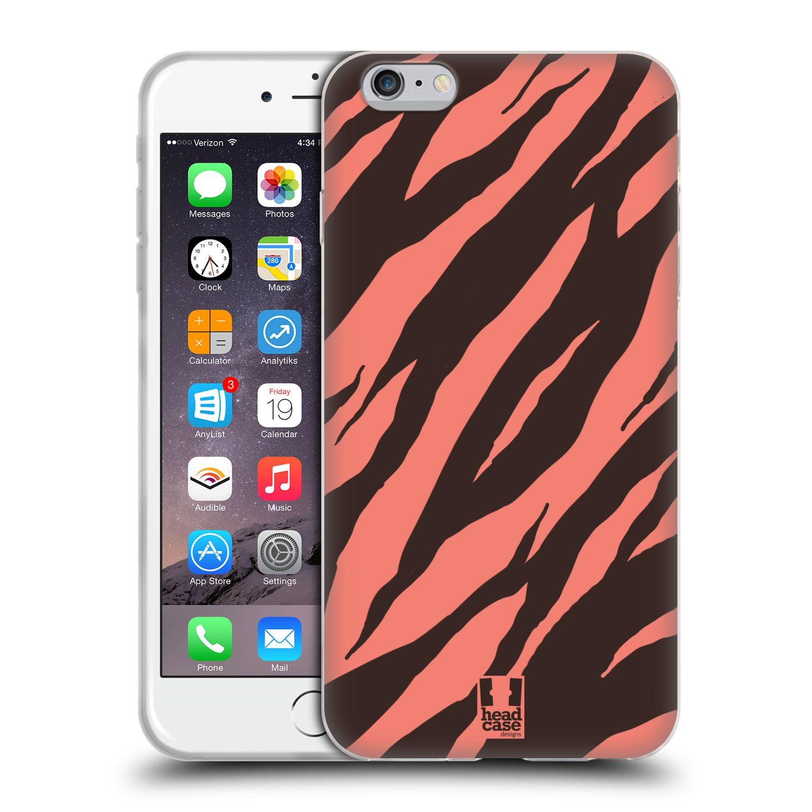 HEAD CASE silikonový obal na mobil Apple Iphone 6 PLUS/ 6S PLUS vzor Divočina zvíře 2 korálový tygr