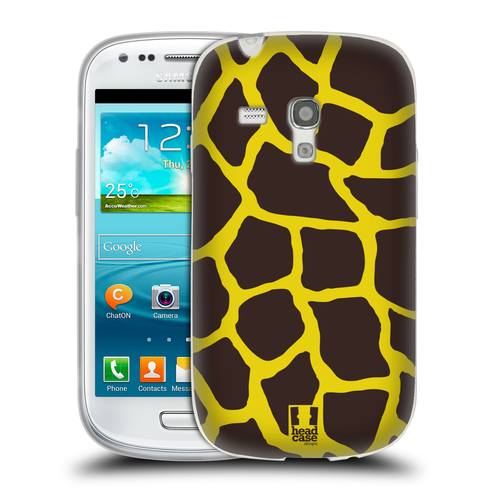 HEAD CASE silikonový obal na mobil Samsung Galaxy S3 MINI i8190 vzor Divočina zvíře 2 žirafa