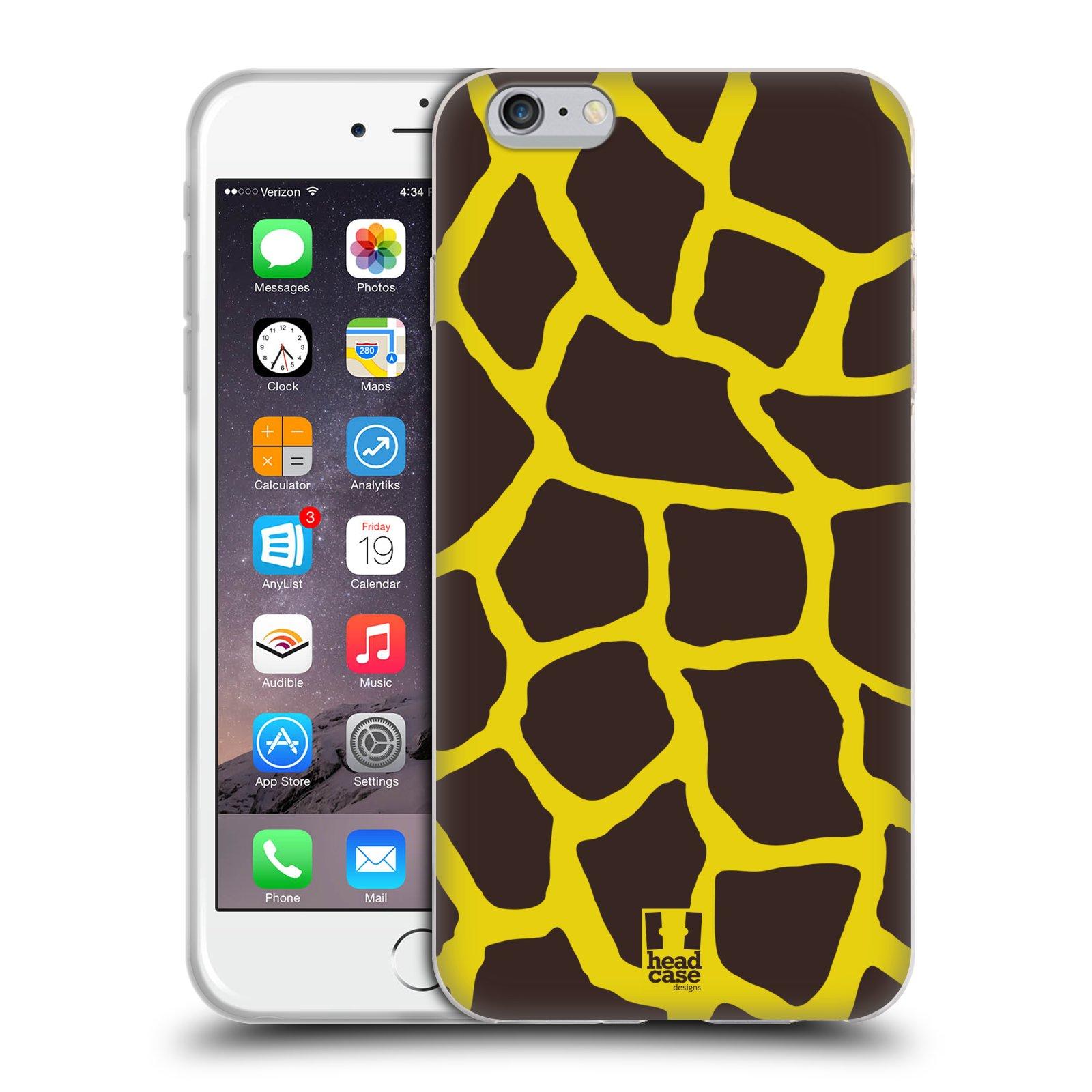 HEAD CASE silikonový obal na mobil Apple Iphone 6 PLUS/ 6S PLUS vzor Divočina zvíře 2 žirafa