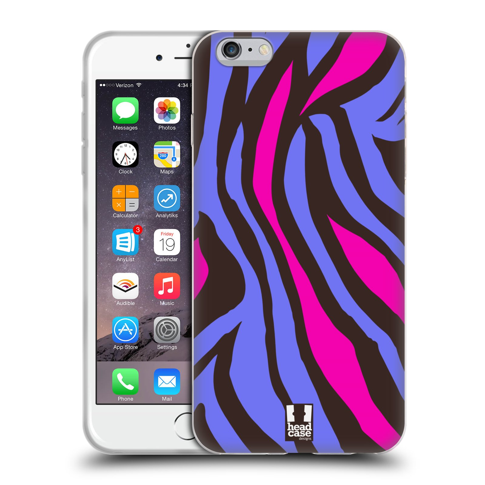 HEAD CASE silikonový obal na mobil Apple Iphone 6 PLUS/ 6S PLUS vzor Divočina zvíře 2 mramor