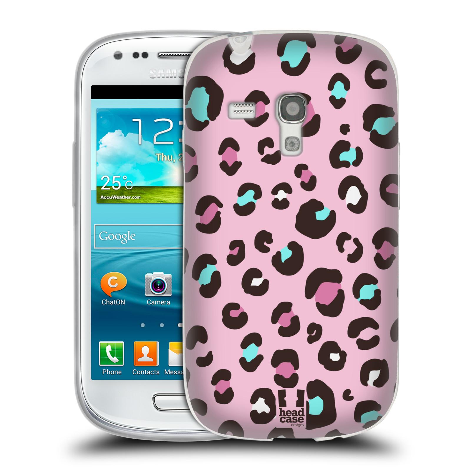 HEAD CASE silikonový obal na mobil Samsung Galaxy S3 MINI i8190 vzor Divočina zvíře 2 růžový MIX