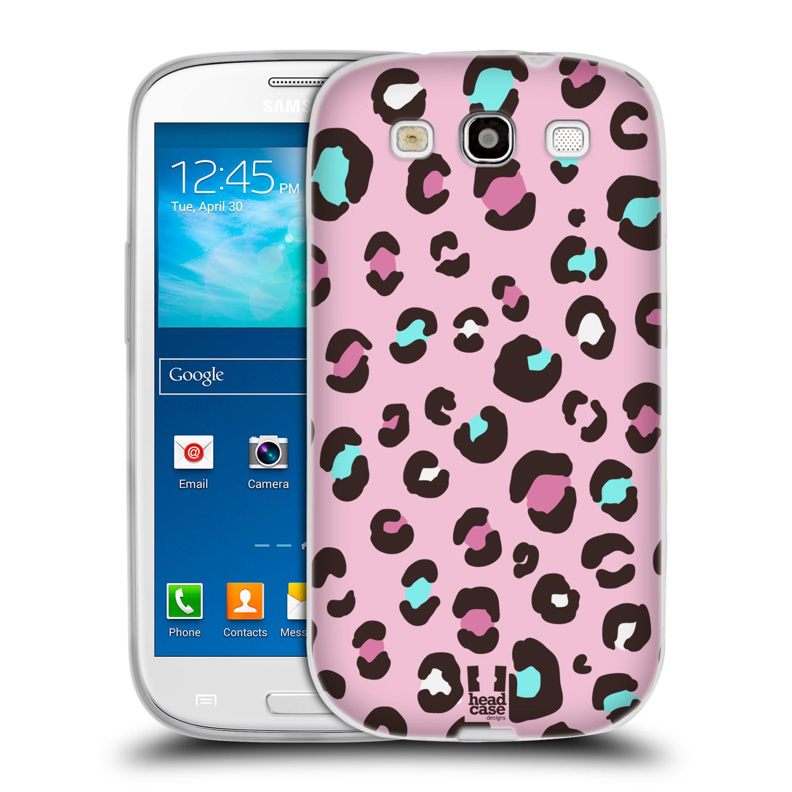 HEAD CASE silikonový obal na mobil Samsung Galaxy S3 i9300 vzor Divočina zvíře 2 růžový MIX