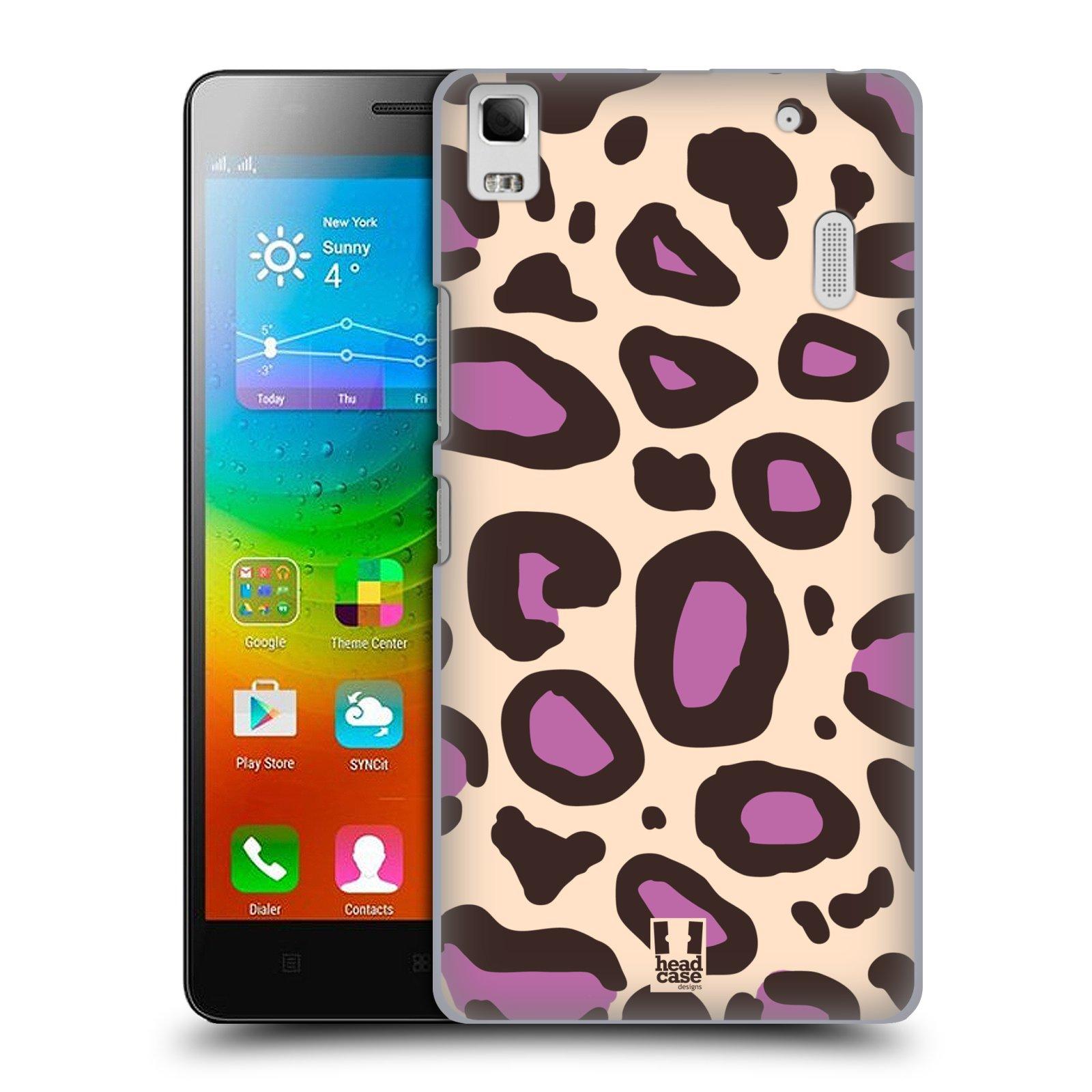 HEAD CASE pevný plastový obal na mobil LENOVO A7000 / A7000 DUAL / K3 NOTE vzor Divočina zvíře 2 neutrální fialová