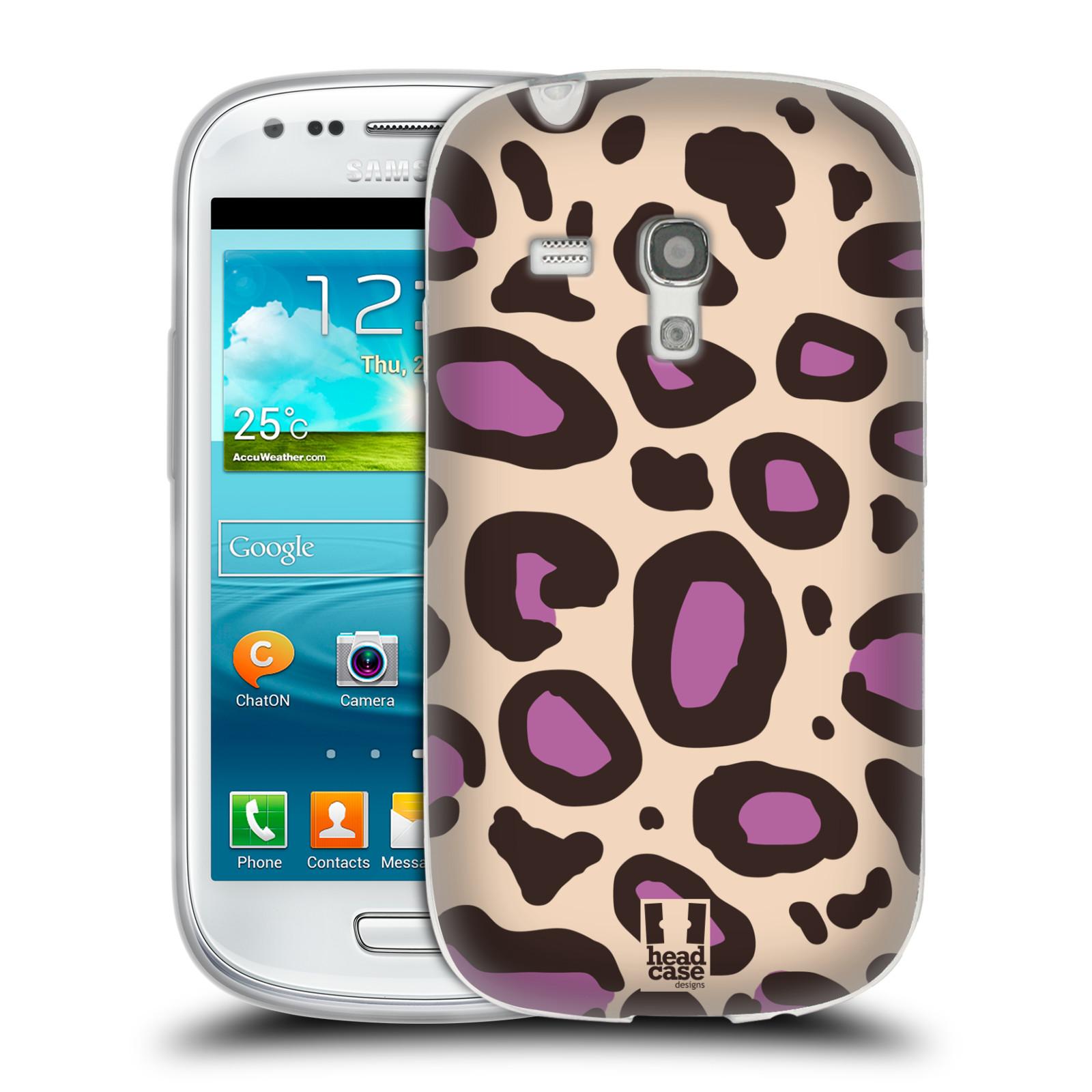 HEAD CASE silikonový obal na mobil Samsung Galaxy S3 MINI i8190 vzor Divočina zvíře 2 neutrální fialová