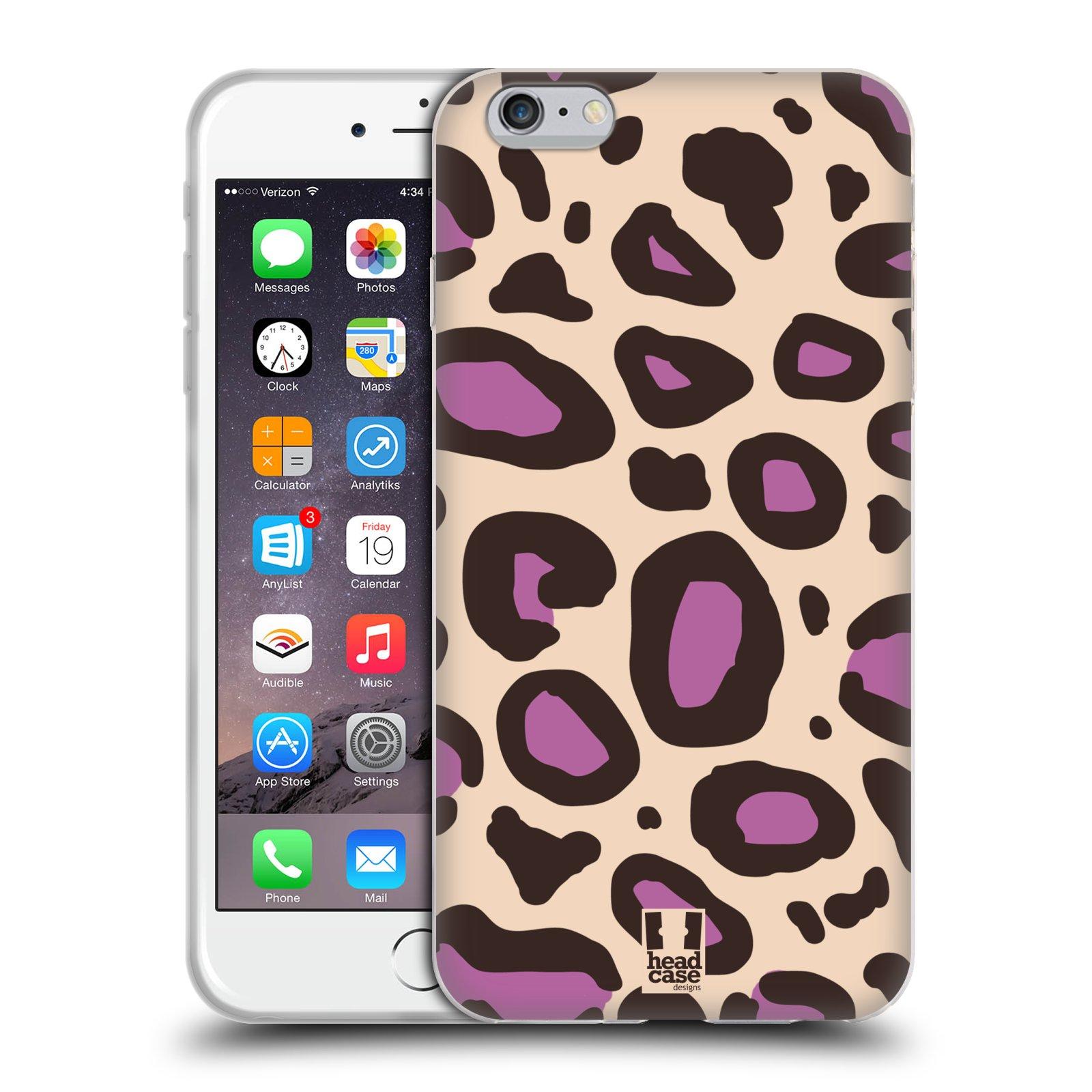 HEAD CASE silikonový obal na mobil Apple Iphone 6 PLUS/ 6S PLUS vzor Divočina zvíře 2 neutrální fialová