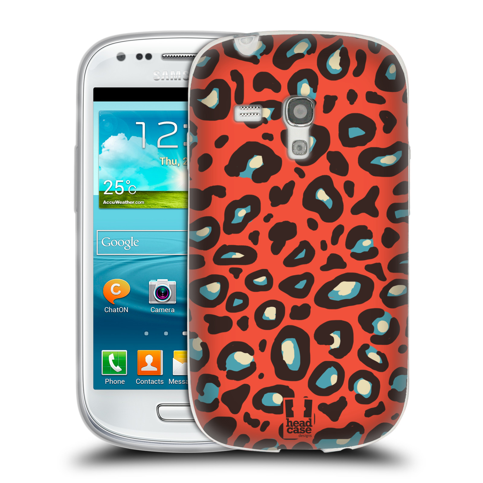 HEAD CASE silikonový obal na mobil Samsung Galaxy S3 MINI i8190 vzor Divočina zvíře 2 oranžový leopard