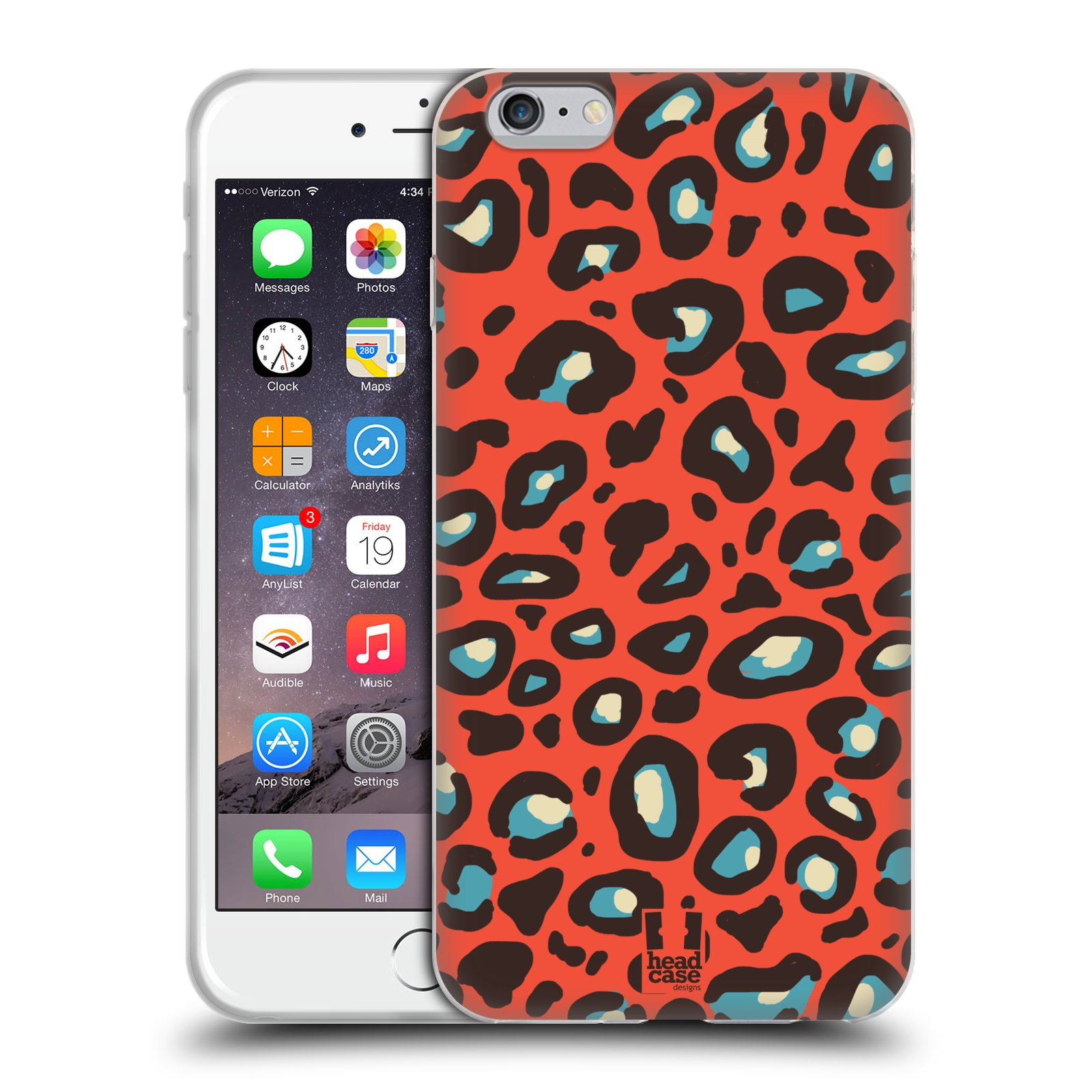 HEAD CASE silikonový obal na mobil Apple Iphone 6 PLUS/ 6S PLUS vzor Divočina zvíře 2 oranžový leopard