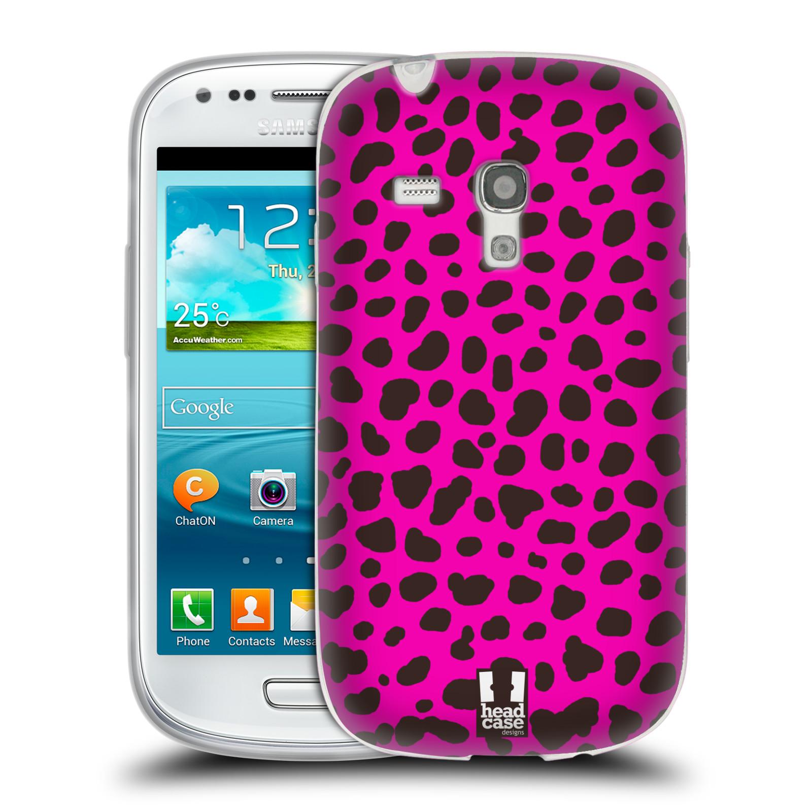 HEAD CASE silikonový obal na mobil Samsung Galaxy S3 MINI i8190 vzor Divočina zvíře 2 růžová opice