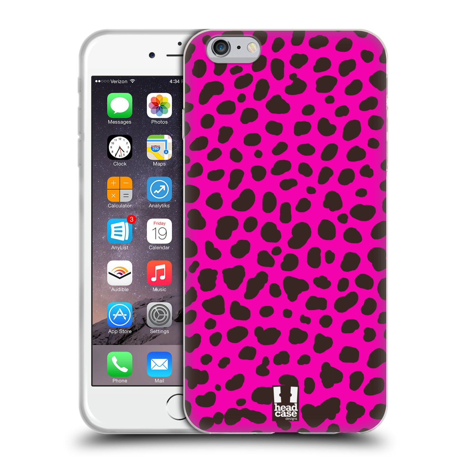 HEAD CASE silikonový obal na mobil Apple Iphone 6 PLUS/ 6S PLUS vzor Divočina zvíře 2 růžová opice