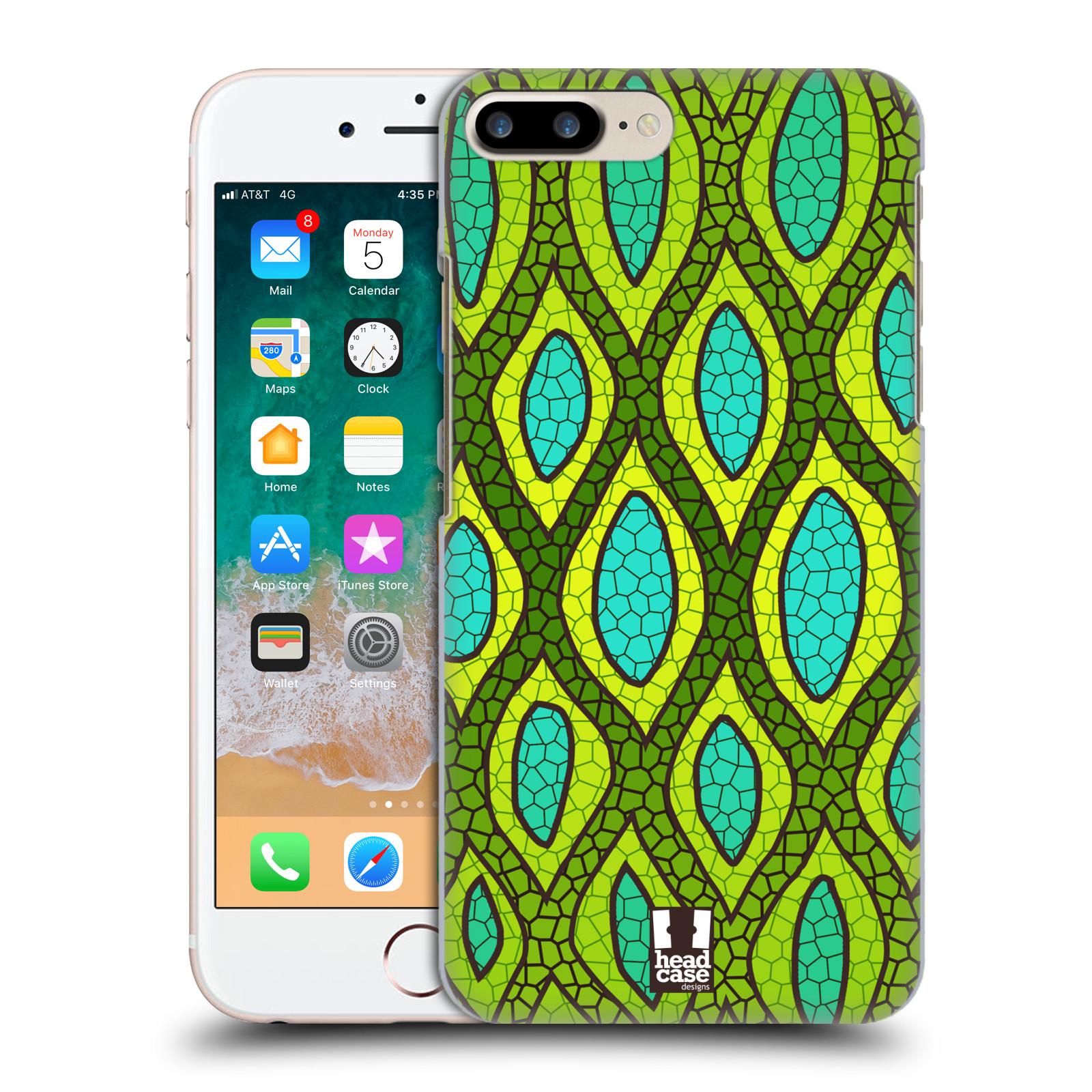 HEAD CASE plastový obal na mobil Apple Iphone 7 PLUS vzor Divočina zvíře 2 hadí kůže zelená