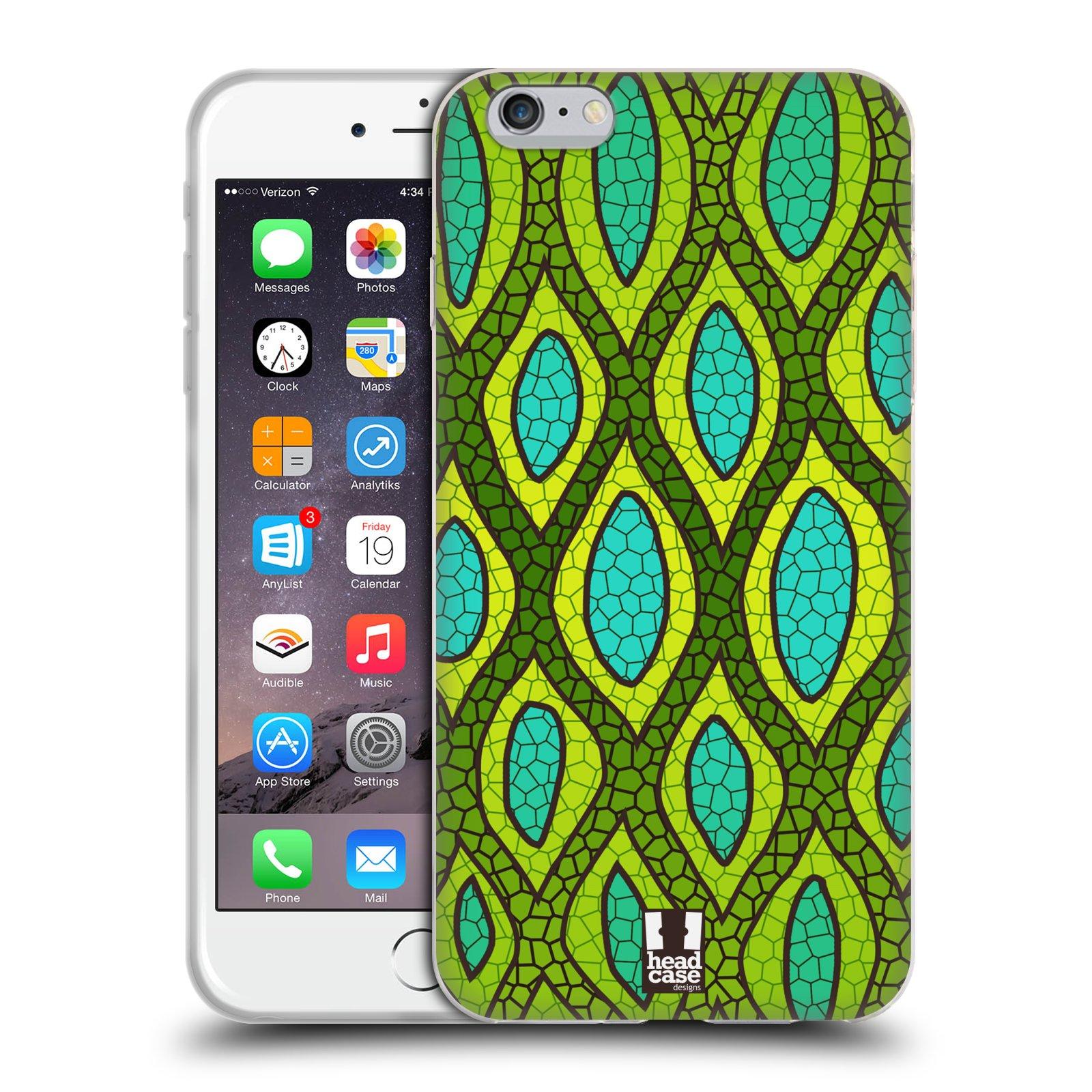 HEAD CASE silikonový obal na mobil Apple Iphone 6 PLUS/ 6S PLUS vzor Divočina zvíře 2 hadí kůže zelená
