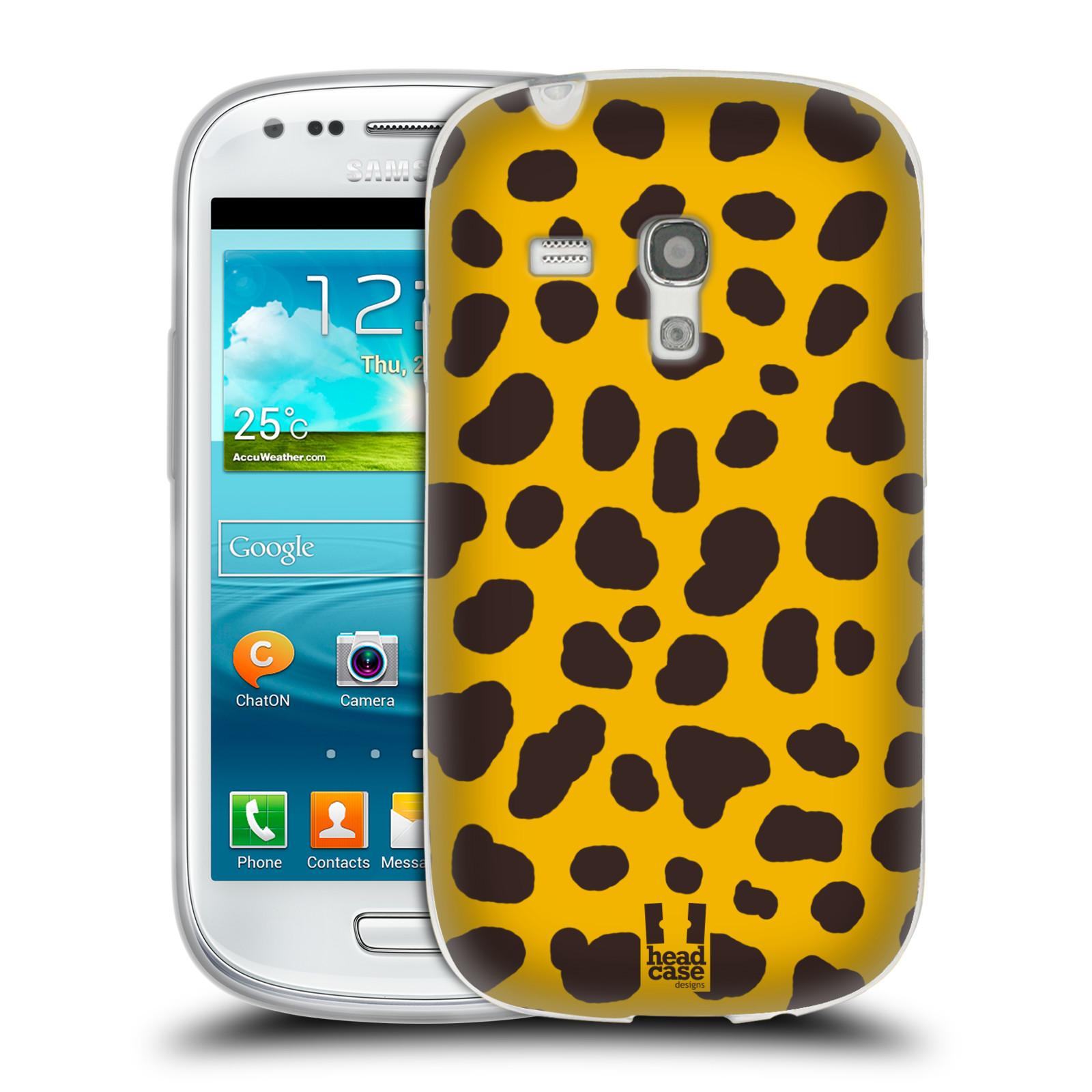 HEAD CASE silikonový obal na mobil Samsung Galaxy S3 MINI i8190 vzor Divočina zvíře 2 žlutá a hnědé skvrny