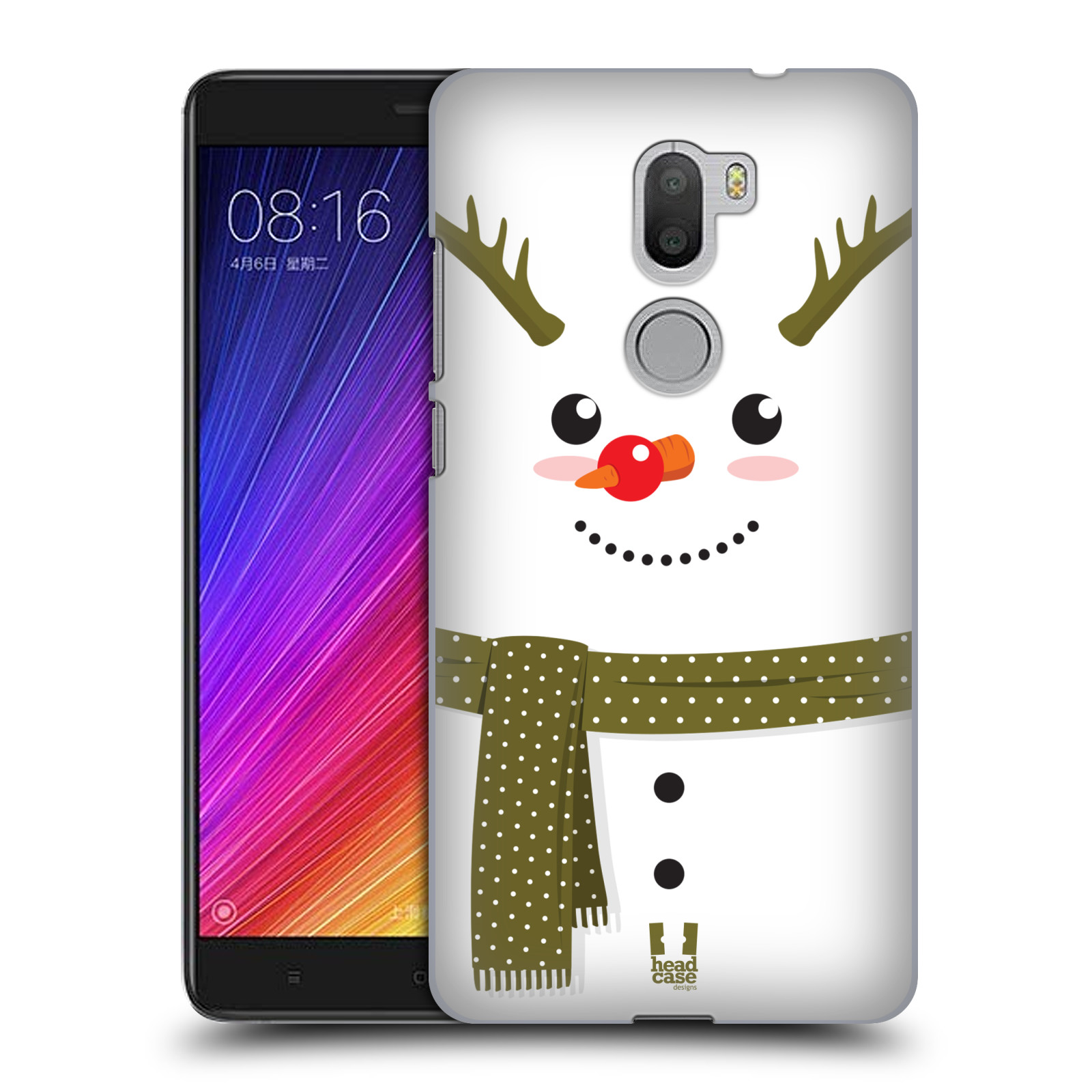 HEAD-CASE-DESIGNS-IL-SIGNOR-PUPAZZO-DI-NEVE-COVER-RETRO-PER-XIAOMI-Mi-5s-PLUS