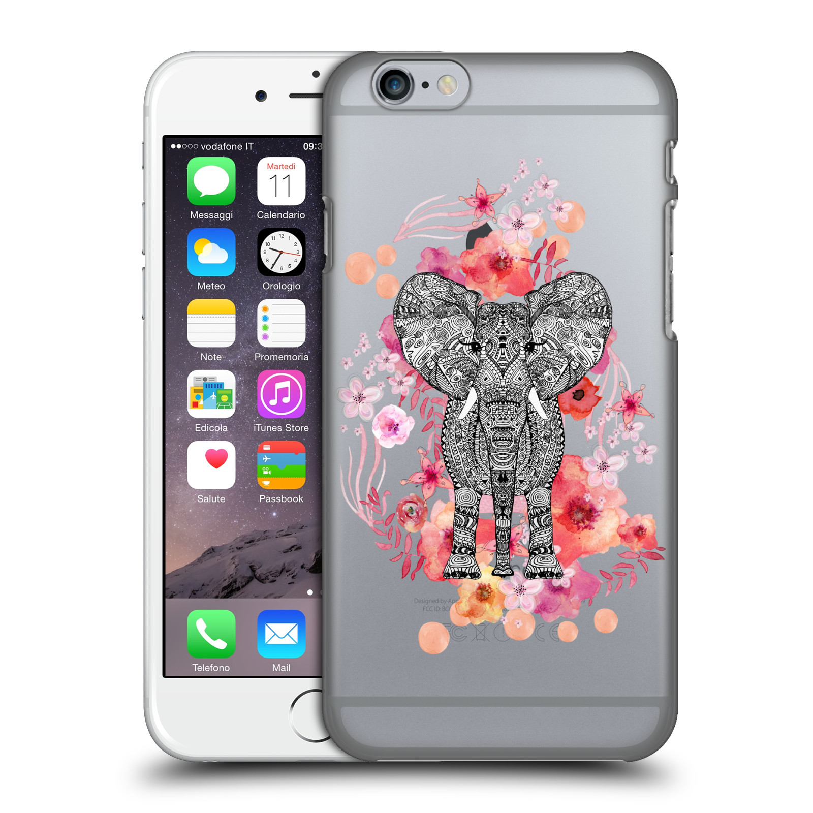 Monika Strigel Animals and Flowers 2-Elephant Aztec