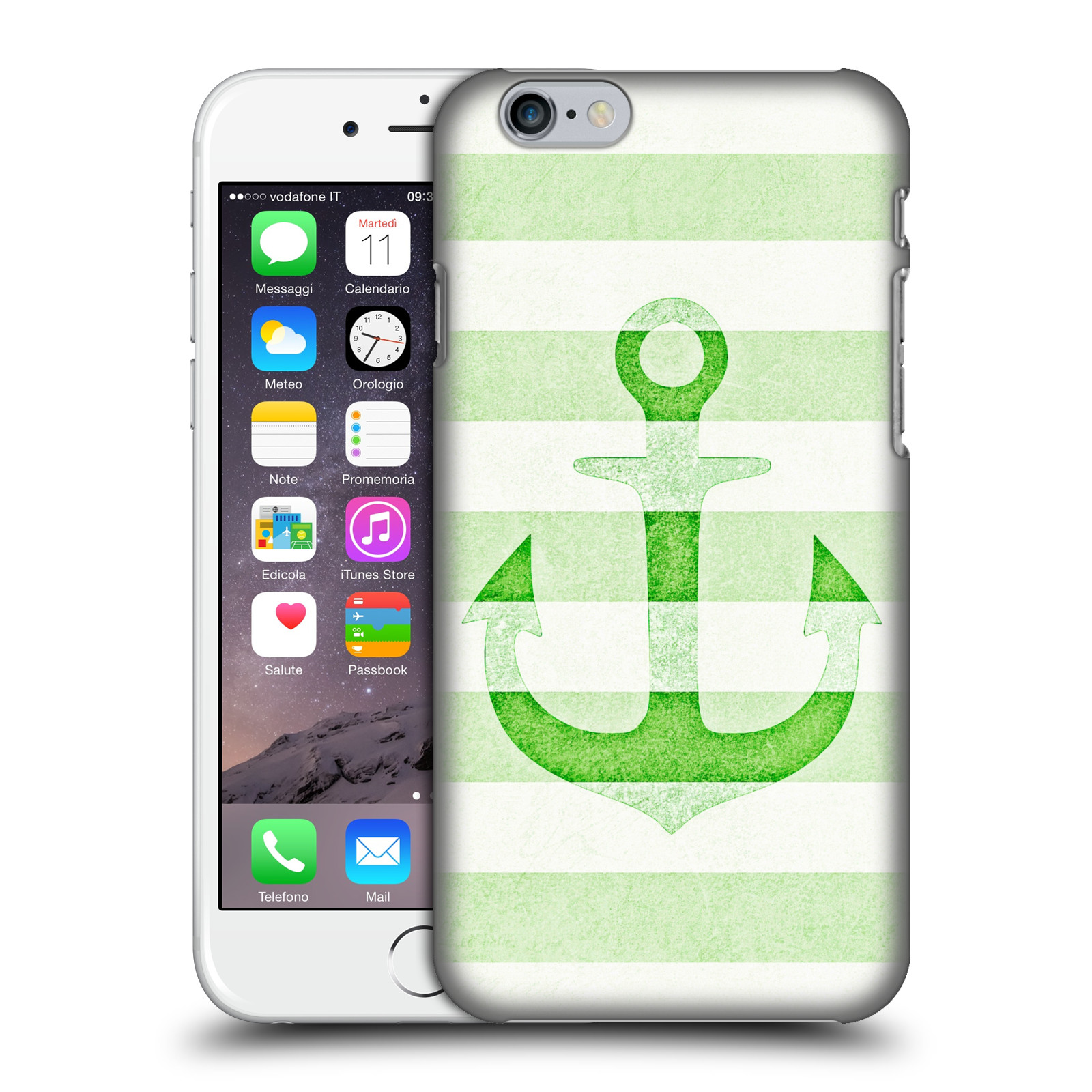 Monika Strigel Vintage Anchors-Apple Green
