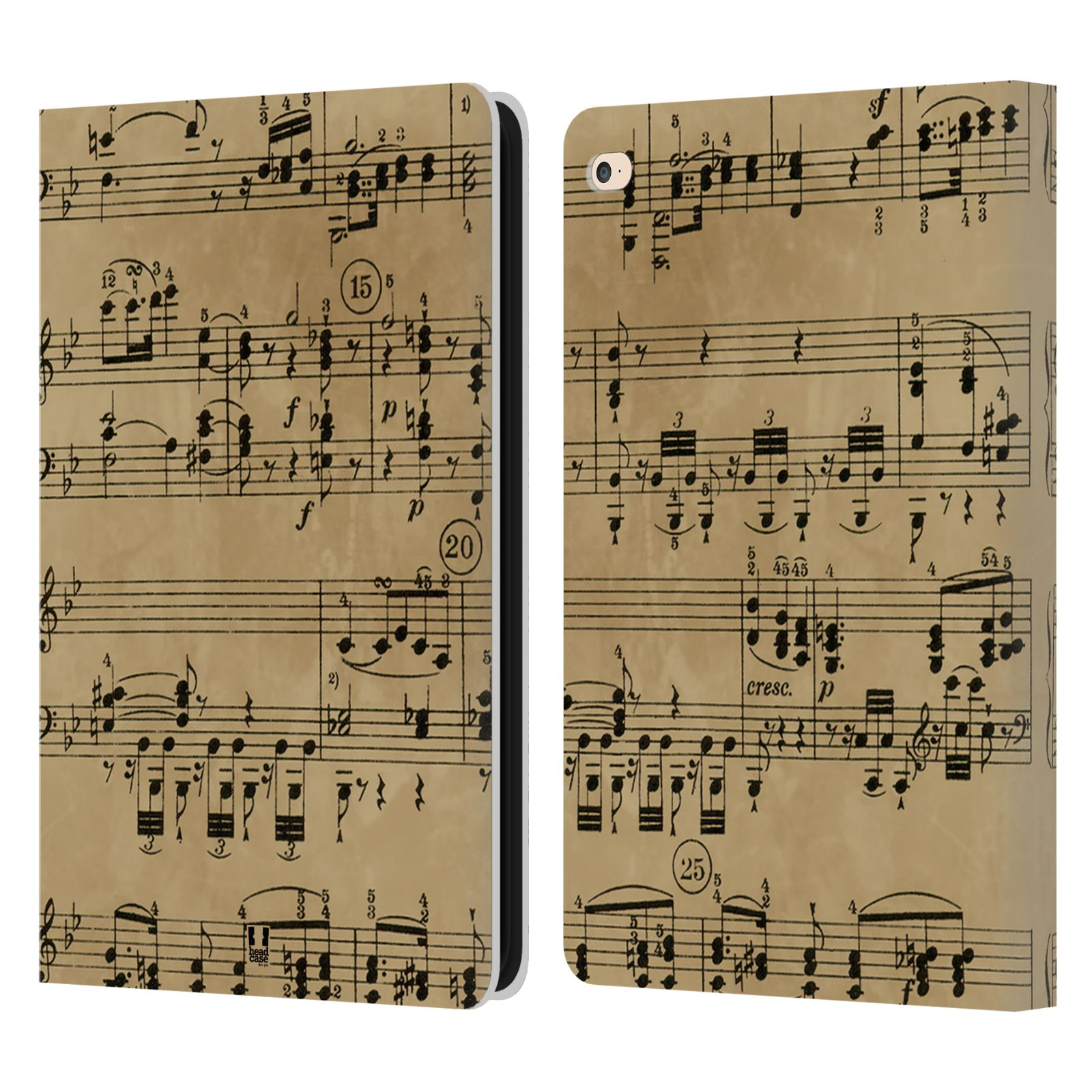 Music Book Cover Ideas : Head case designs music sheets leather book wallet