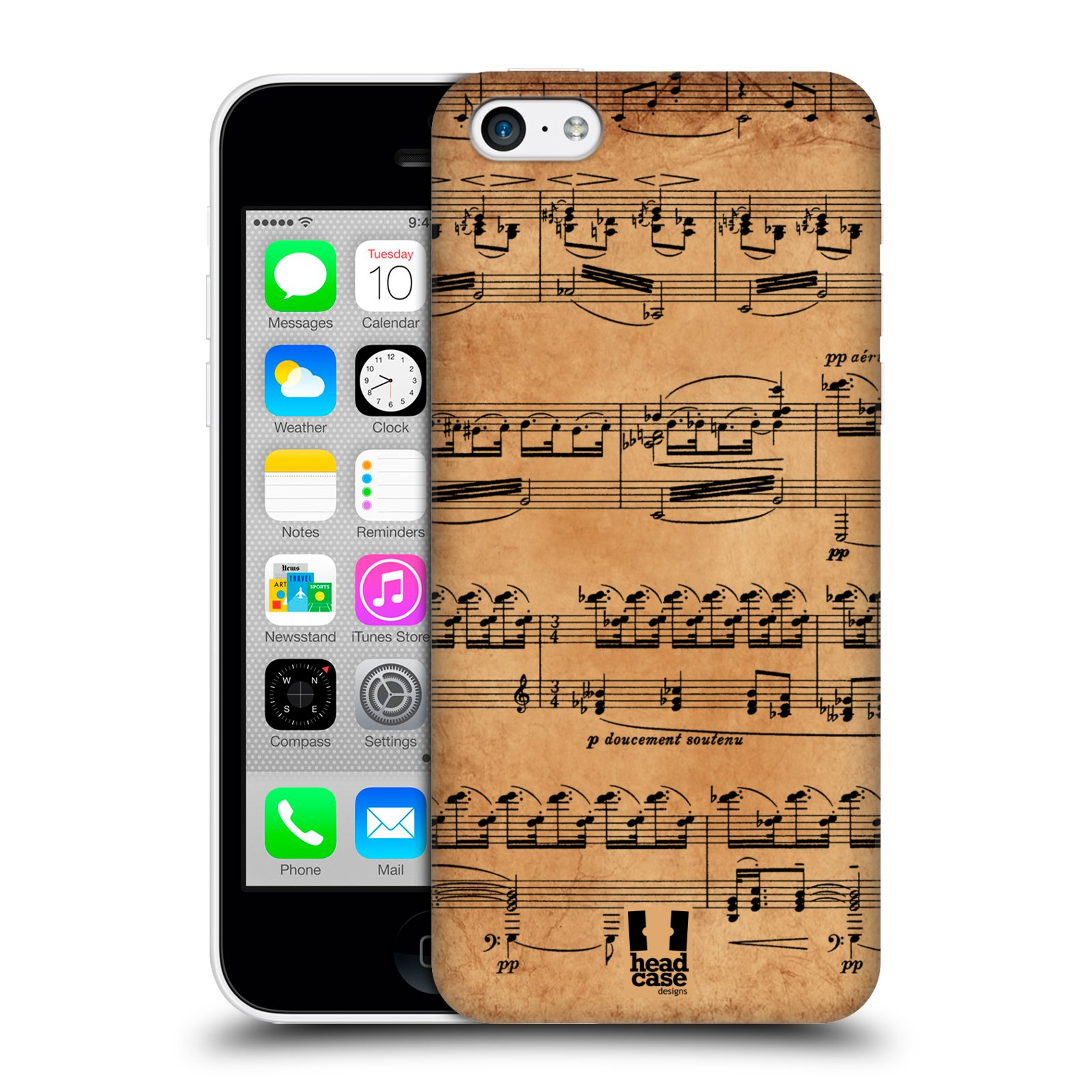 HEAD-CASE-DESIGNS-MUSIC-SHEETS-PROTECTIVE-BACK-CASE-COVER-FOR-APPLE-iPHONE-5C