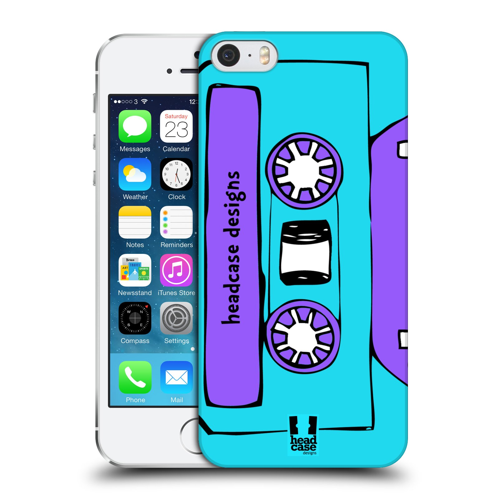 HEAD CASE DESIGNS MIXTAPES HARD BACK CASE FOR APPLE iPHONE 5S