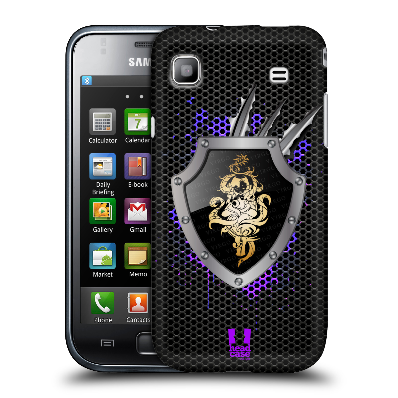 HEAD CASE DESIGNS METAL ZODIAC HARD BACK CASE FOR SAMSUNG GALAXY S I9000